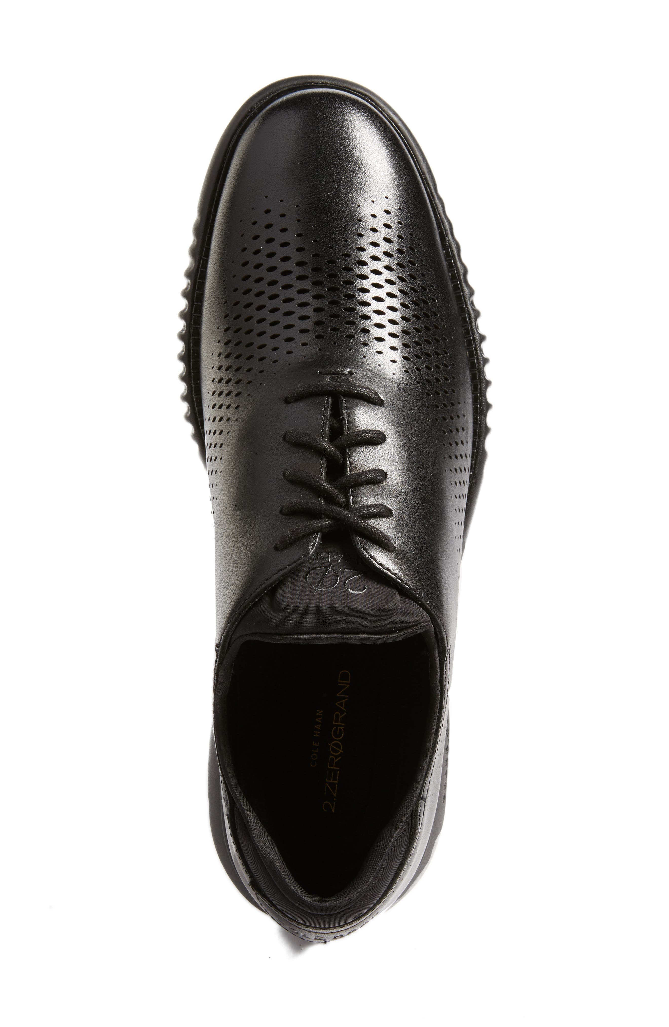 2.ZeroGrand Wingtip,                             Alternate thumbnail 5, color,                             Black Leather