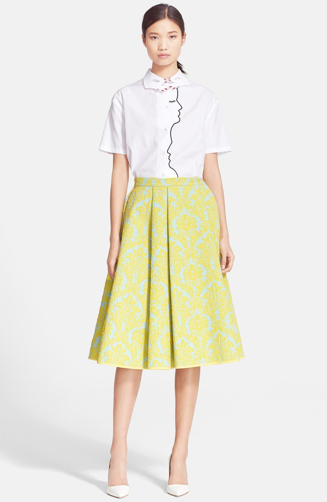 Alternate Image 3  - VIVETTA 'Candy' Brocade A-Line Skirt