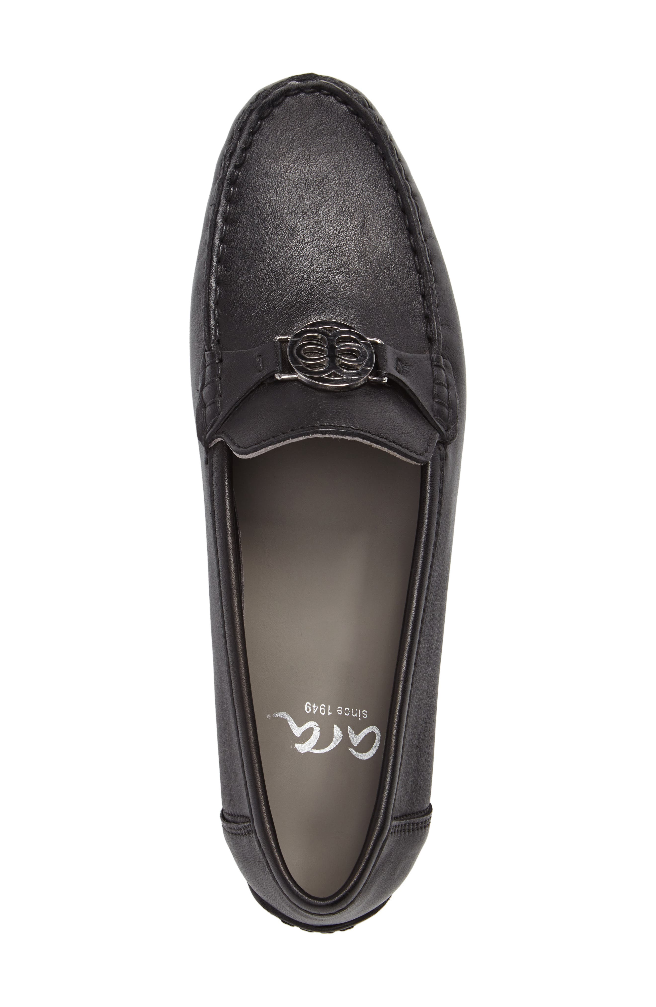 Blanche Loafer,                             Alternate thumbnail 5, color,                             Black Leather