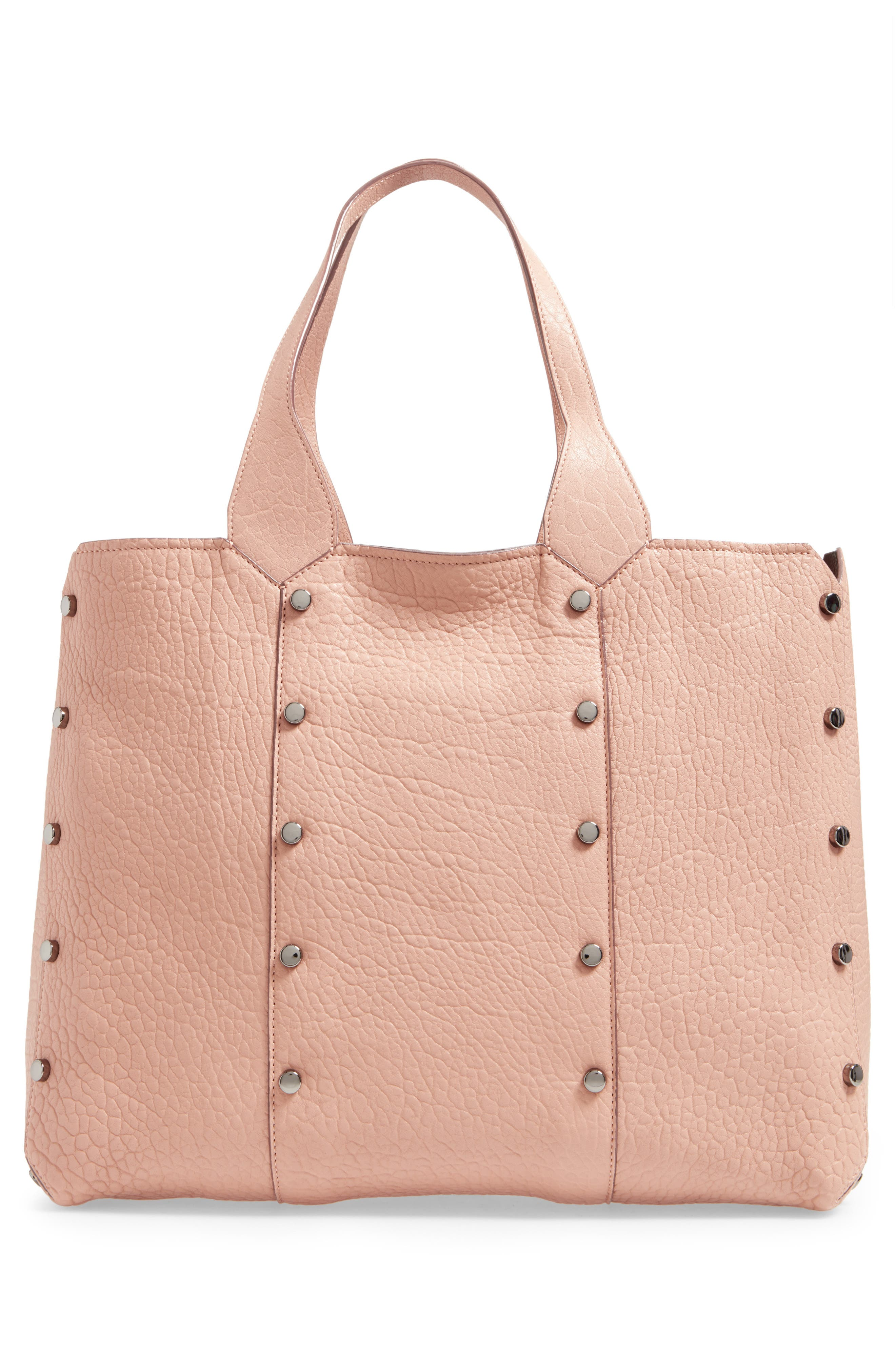Lockett Leather Shopper,                             Alternate thumbnail 3, color,                             Ballet Pink