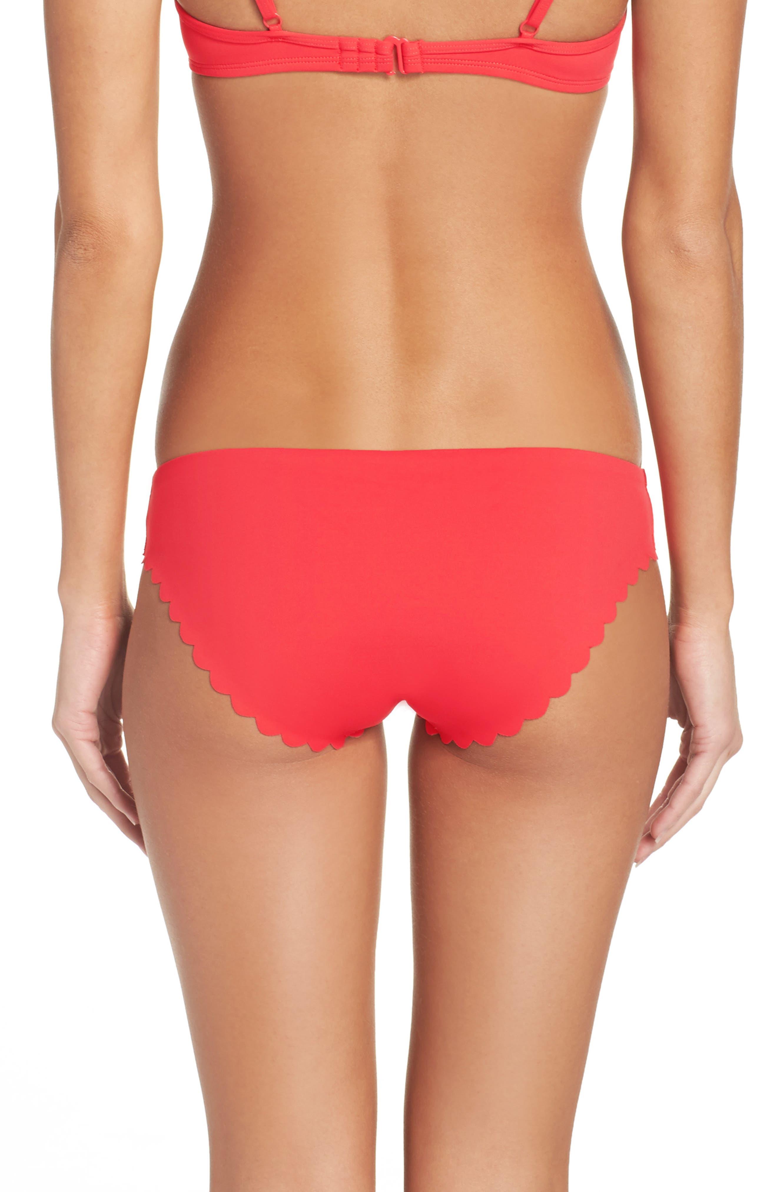 Alternate Image 2  - J.Crew Scalloped Matte Bikini Bottoms