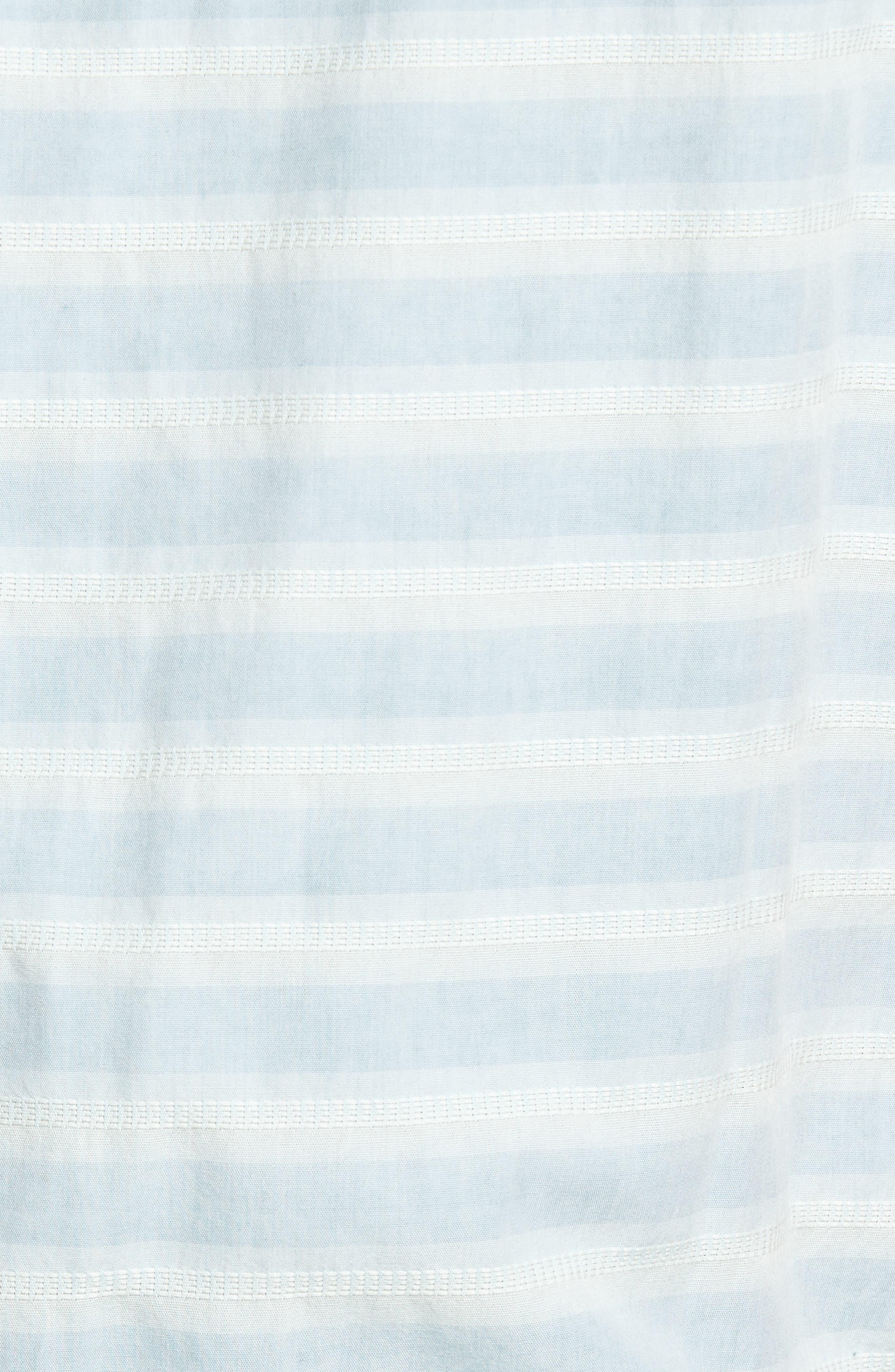 Abbott Regular Fit Dobby Stripe Sport Shirt,                             Alternate thumbnail 5, color,                             Cloud