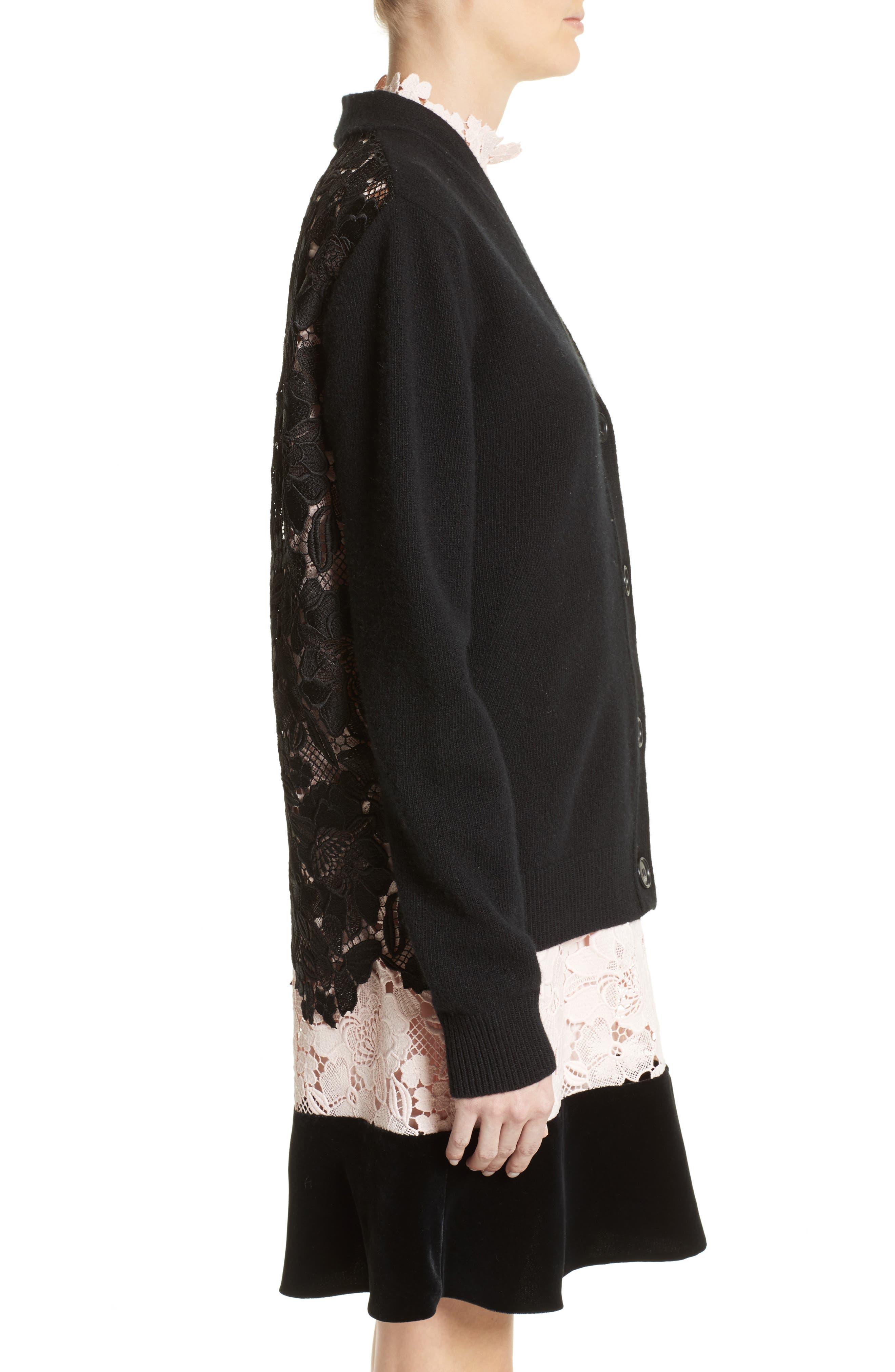 Alternate Image 4  - N°21 Lace Back Wool Blend Cardigan