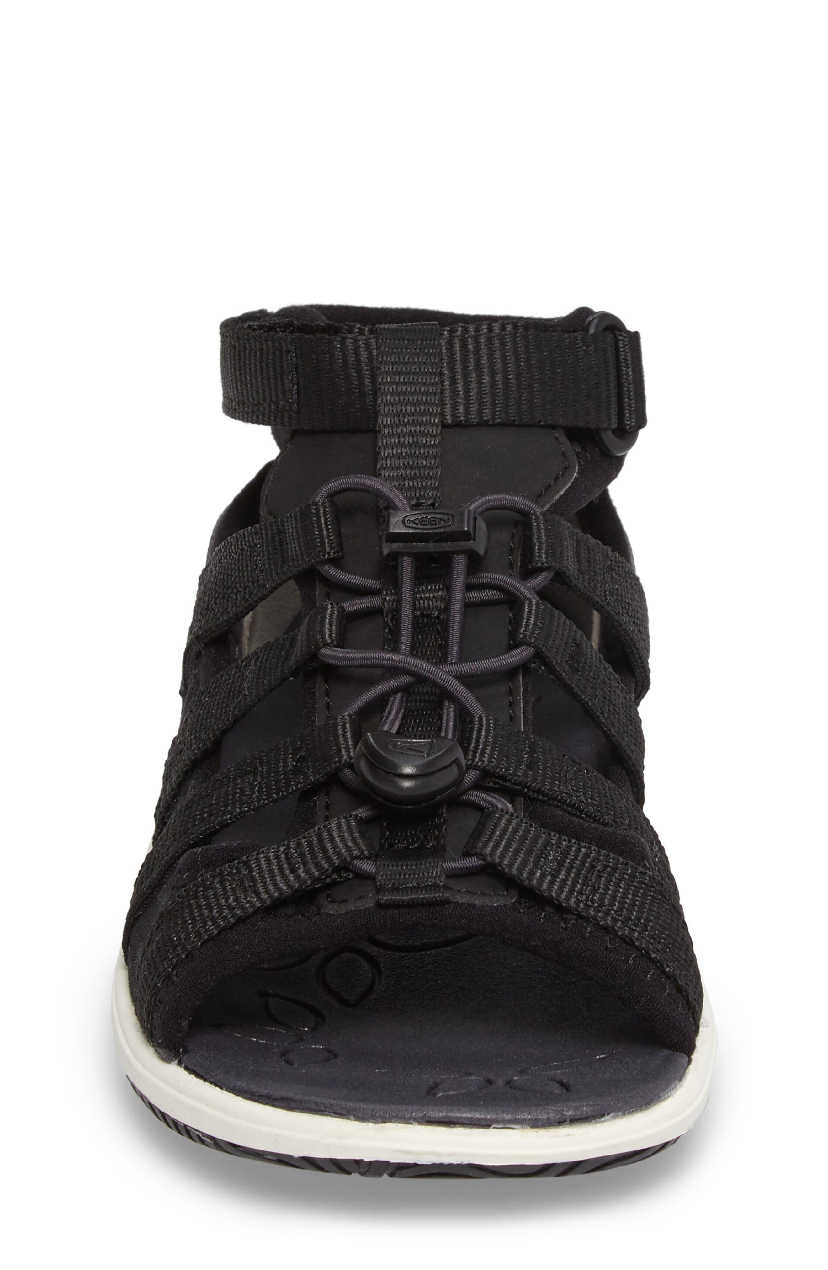 Hadley Adventure Water Friendly Sandal,                             Alternate thumbnail 4, color,                             Black/ White