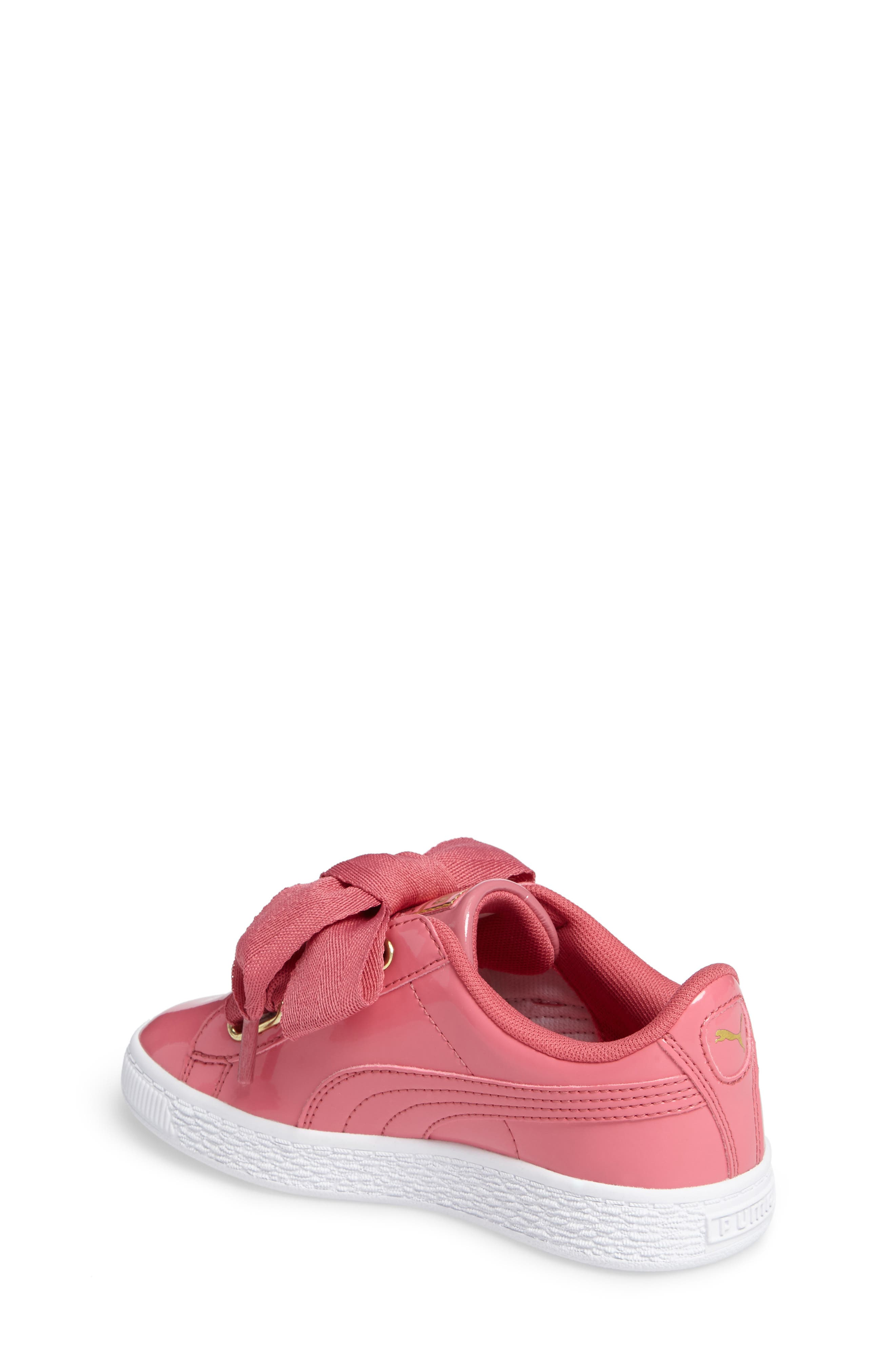 Basket Heart Sneaker,                             Alternate thumbnail 2, color,                             Rapture Rose/ Puma Team Gold