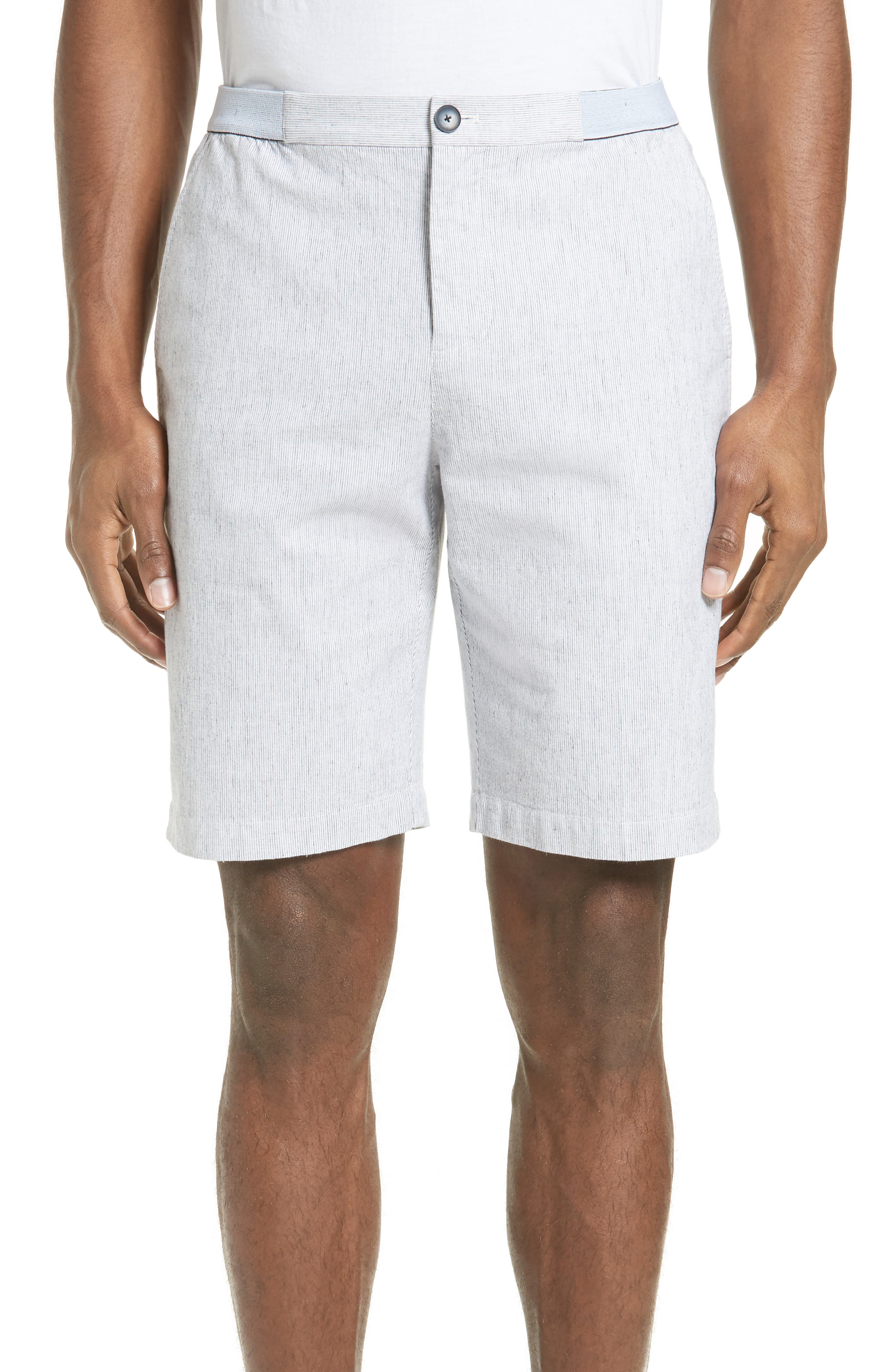 ATM Anthony Thomas Melillo Elastic Waist Seersucker Shorts