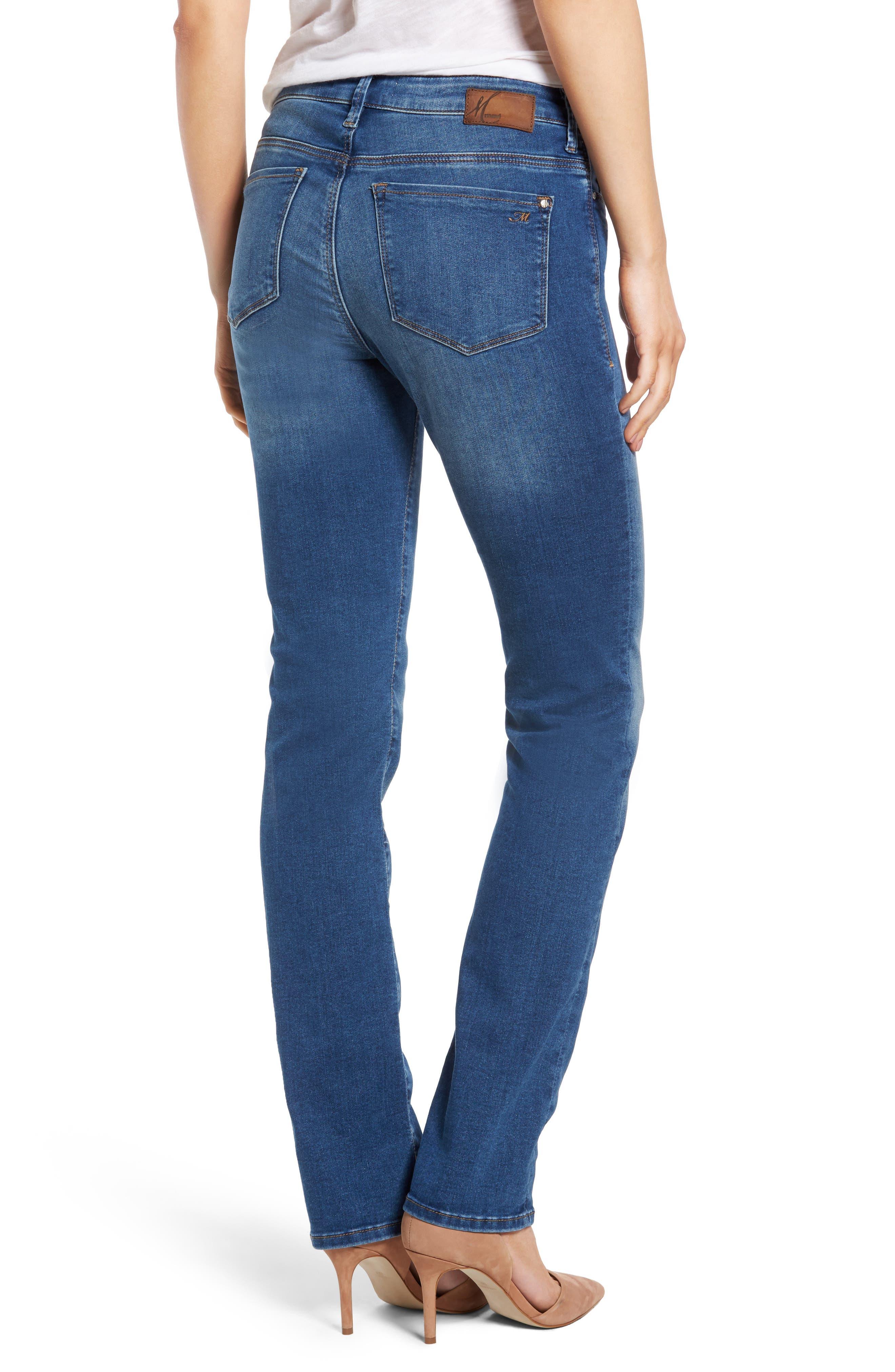 Alternate Image 2  - Mavi Jeans Kendra High Waist Stretch Denim Jeans (Mid Soft Shanti)