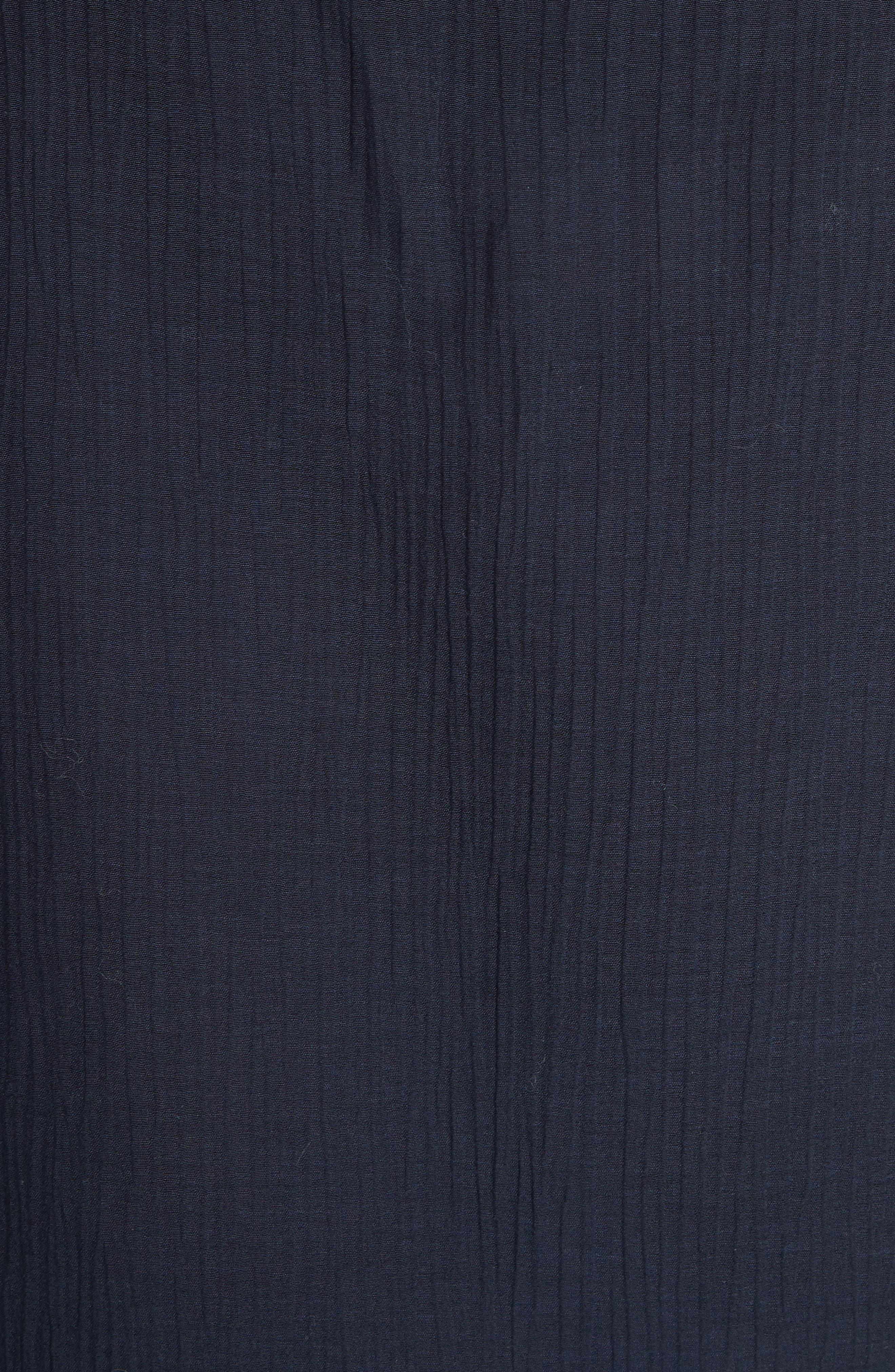 Cotton & Silk Ruffle Top,                             Alternate thumbnail 6, color,                             Eclipse