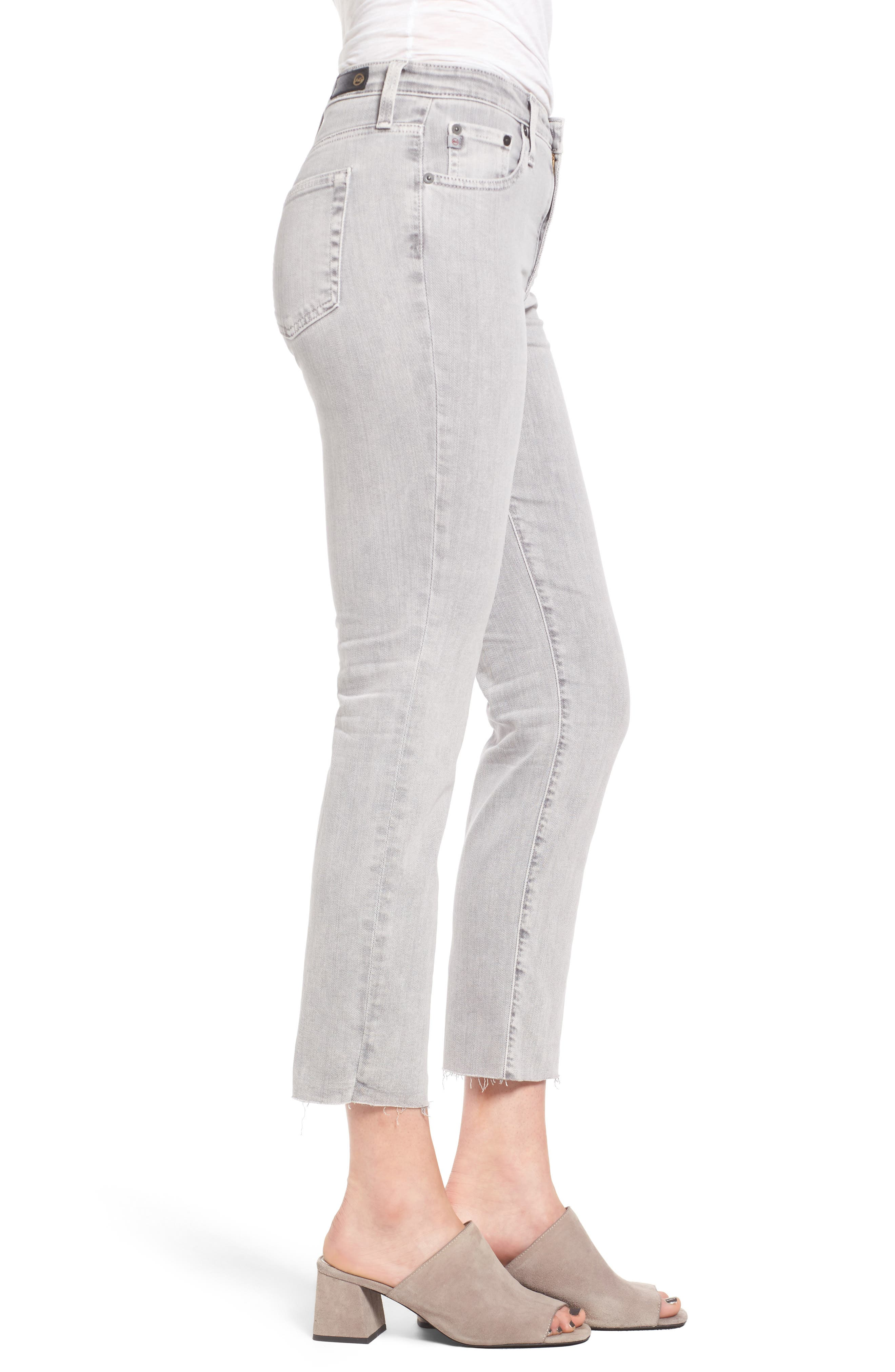 Alternate Image 3  - AG The Isabelle High Waist Crop Straight Leg Jeans