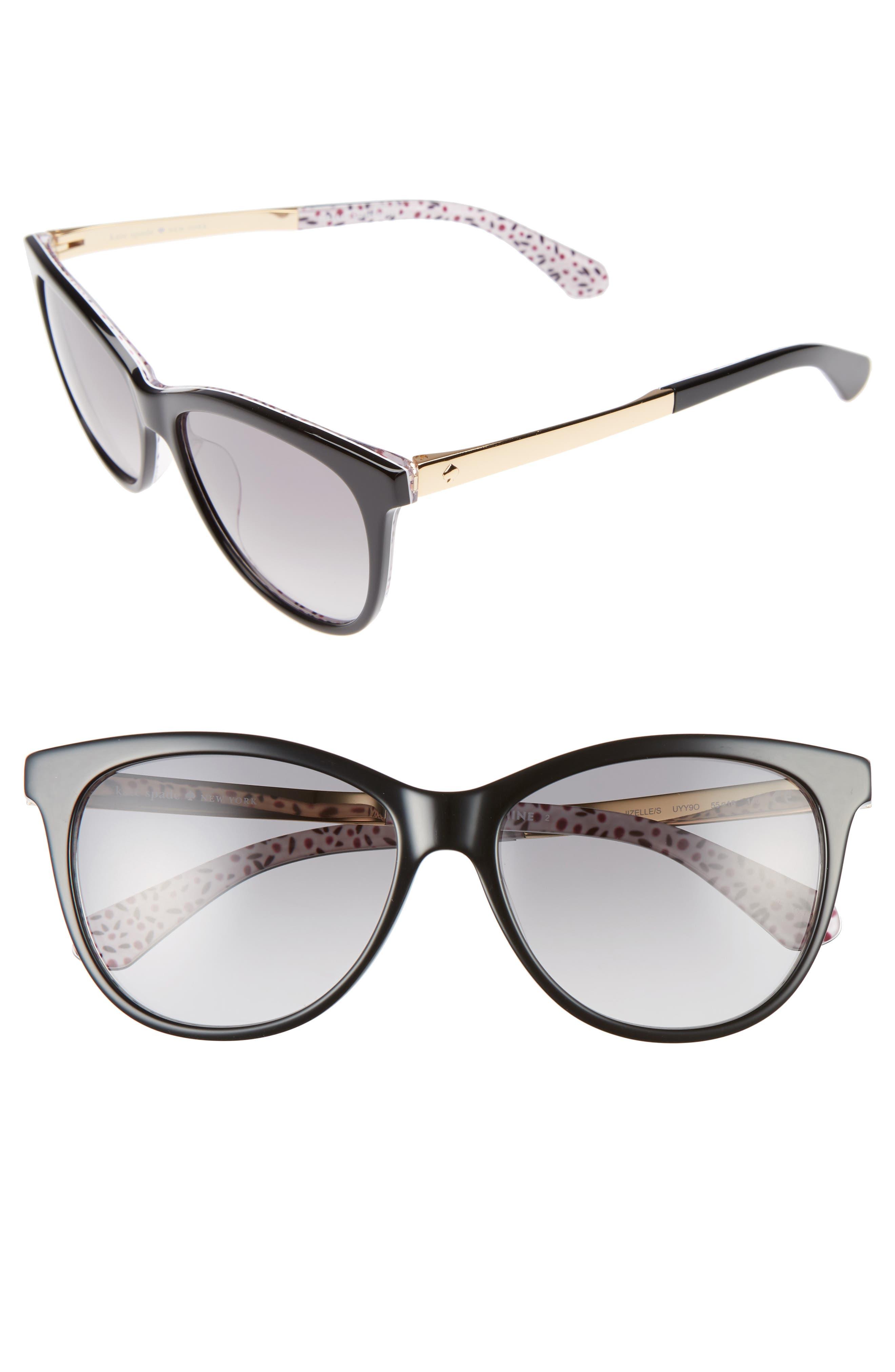 kate spade new york jizelle 55mm Gradient Lenses Cat Eye Sunglasses