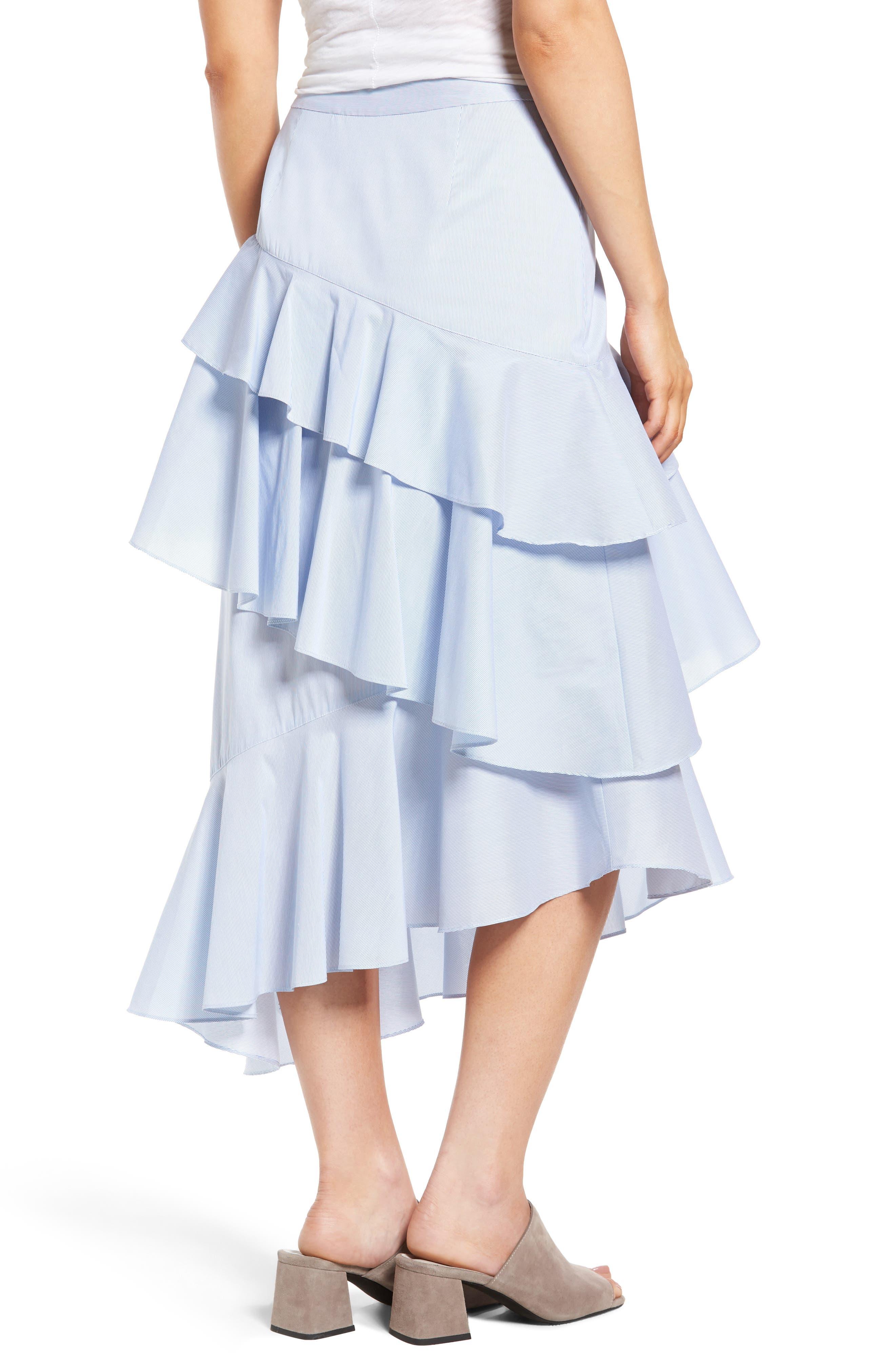 Alternate Image 3  - Chelsea28 Ruffle Midi Skirt