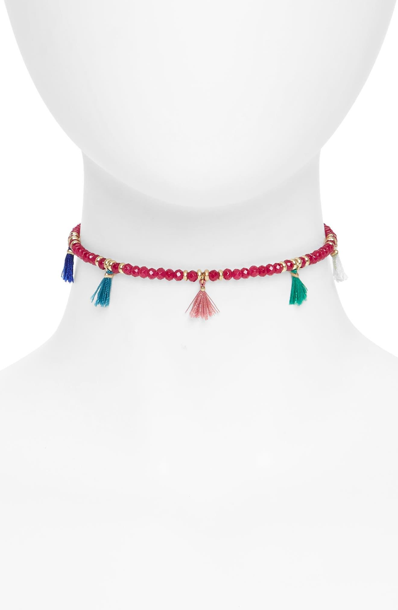 Canvas Jewelry Tassel Choker