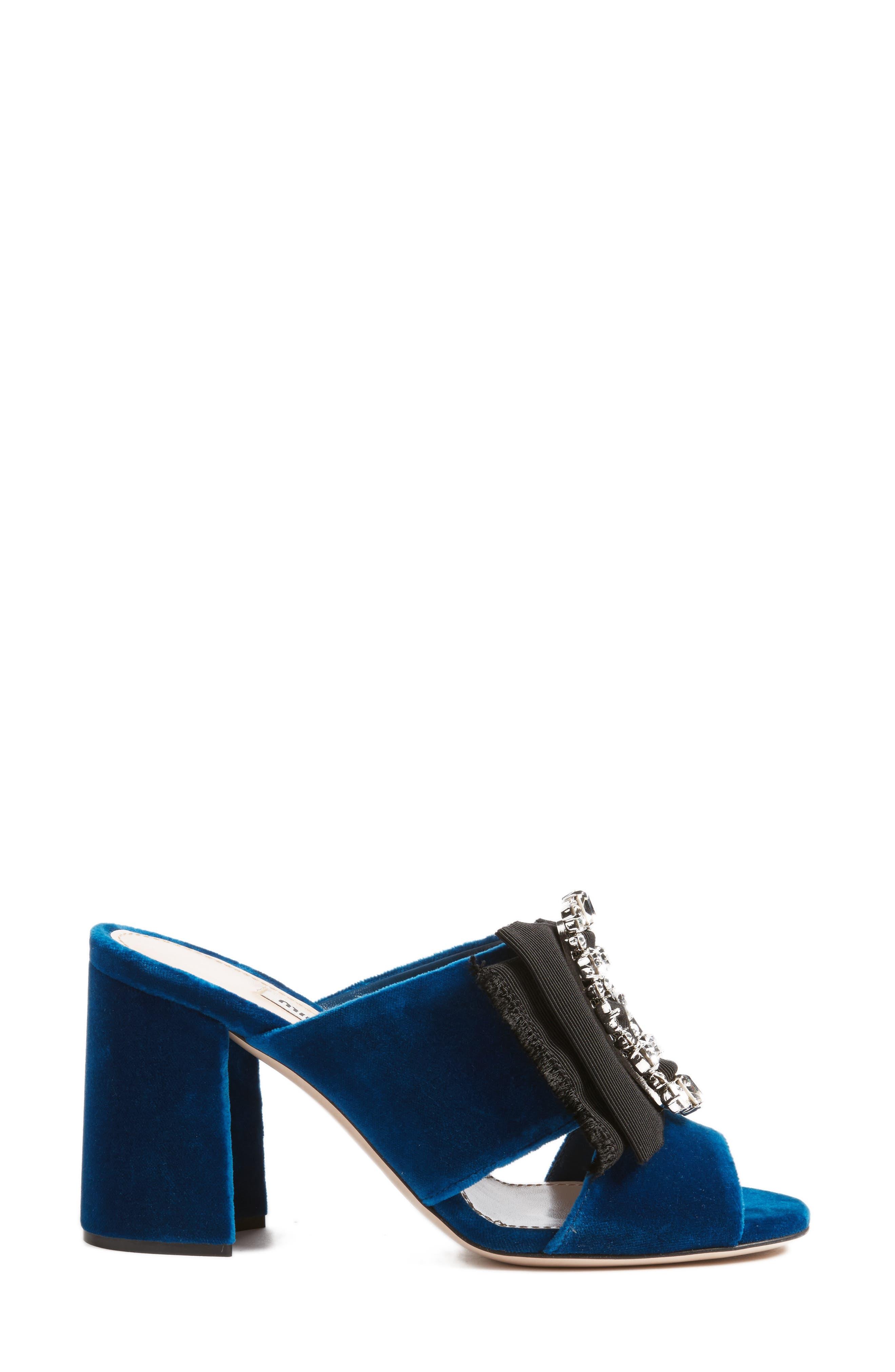 Embellished Sandal,                             Alternate thumbnail 3, color,                             Blue