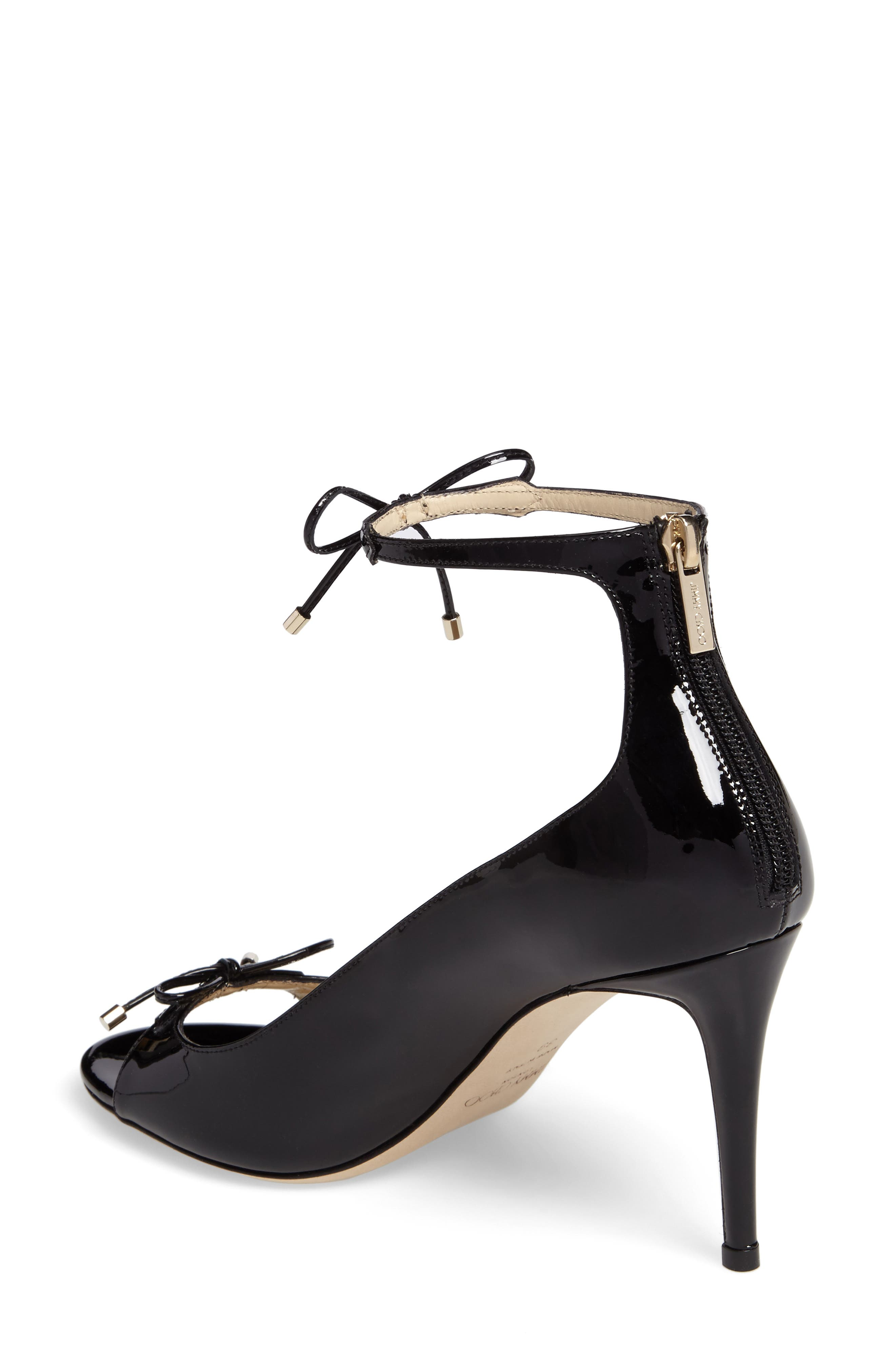 Sofia Peep Toe Pump,                             Alternate thumbnail 2, color,                             Black