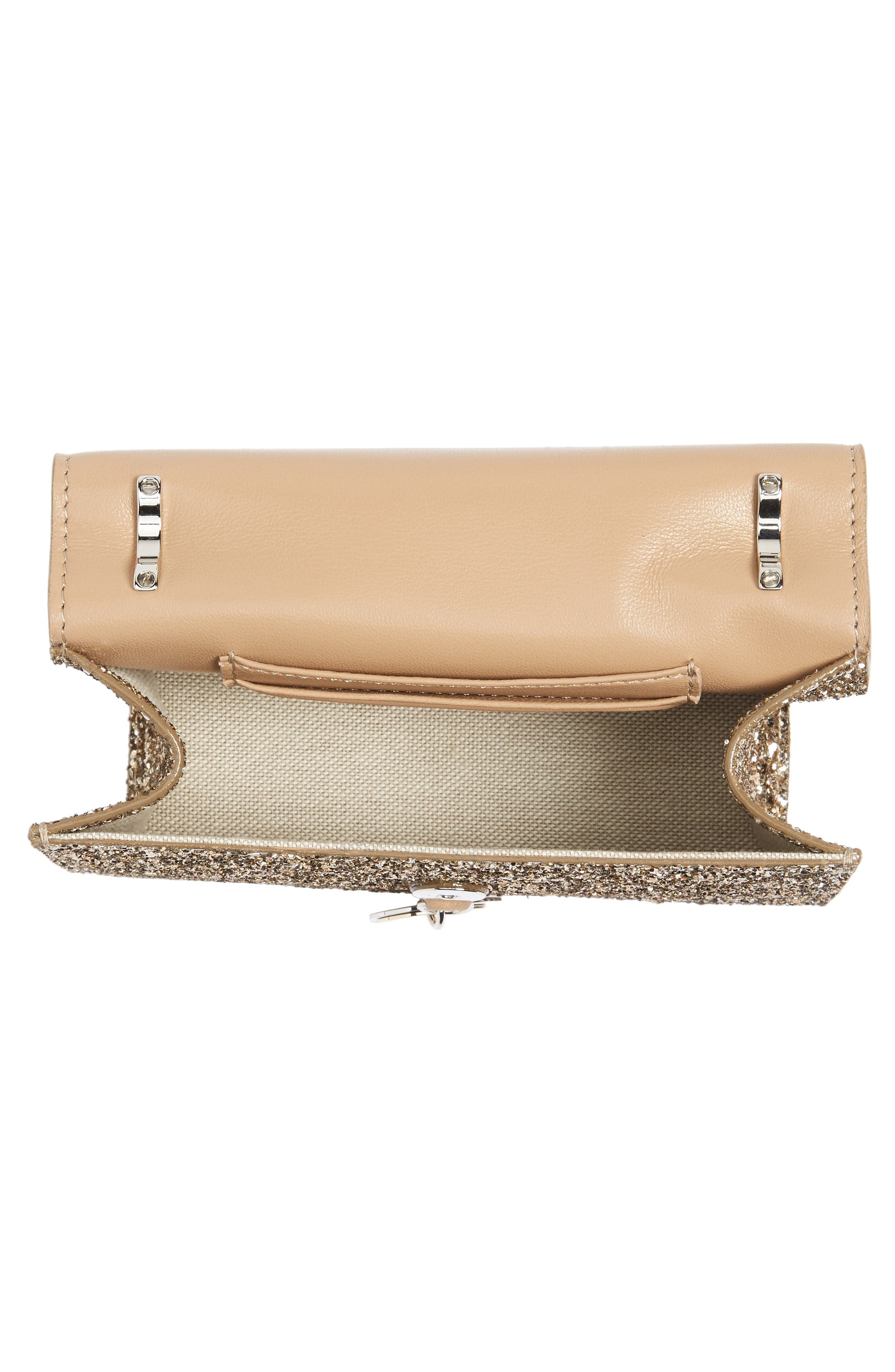 Finley Shadow Glitter Shoulder Bag,                             Alternate thumbnail 4, color,                             Antique Gold