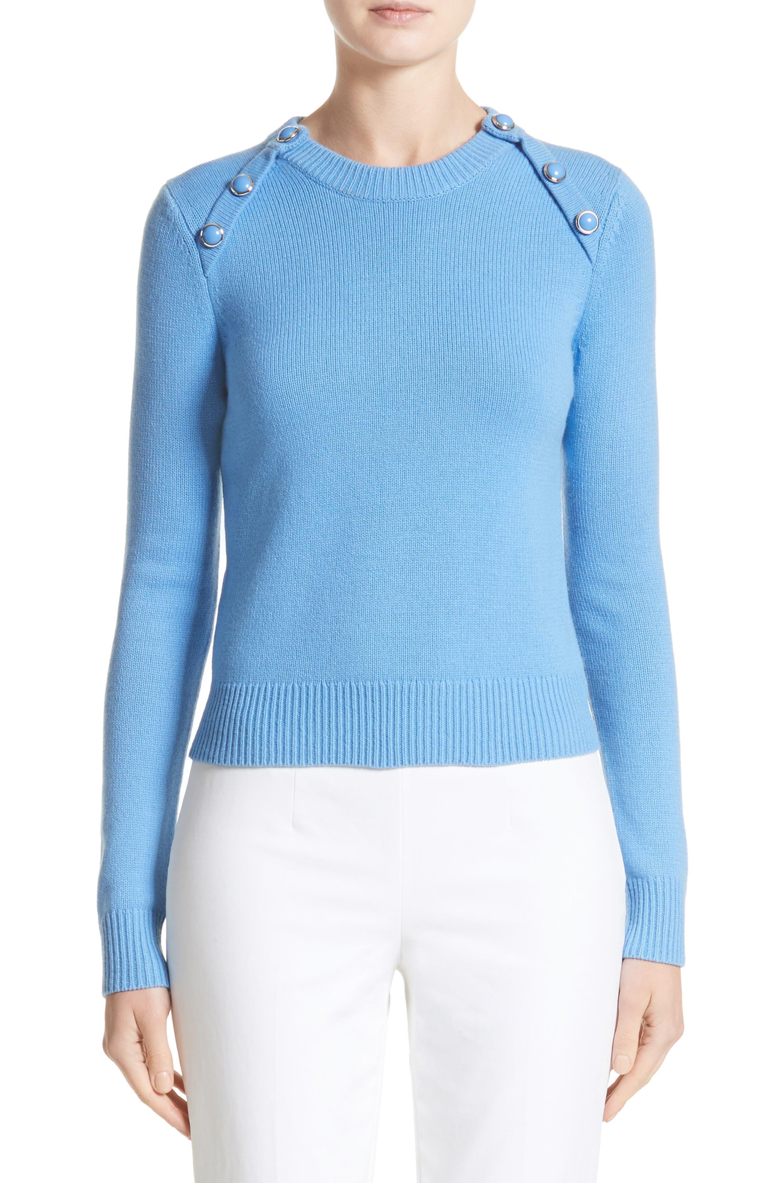 Raglan Cashmere Sweater,                         Main,                         color, Cadet