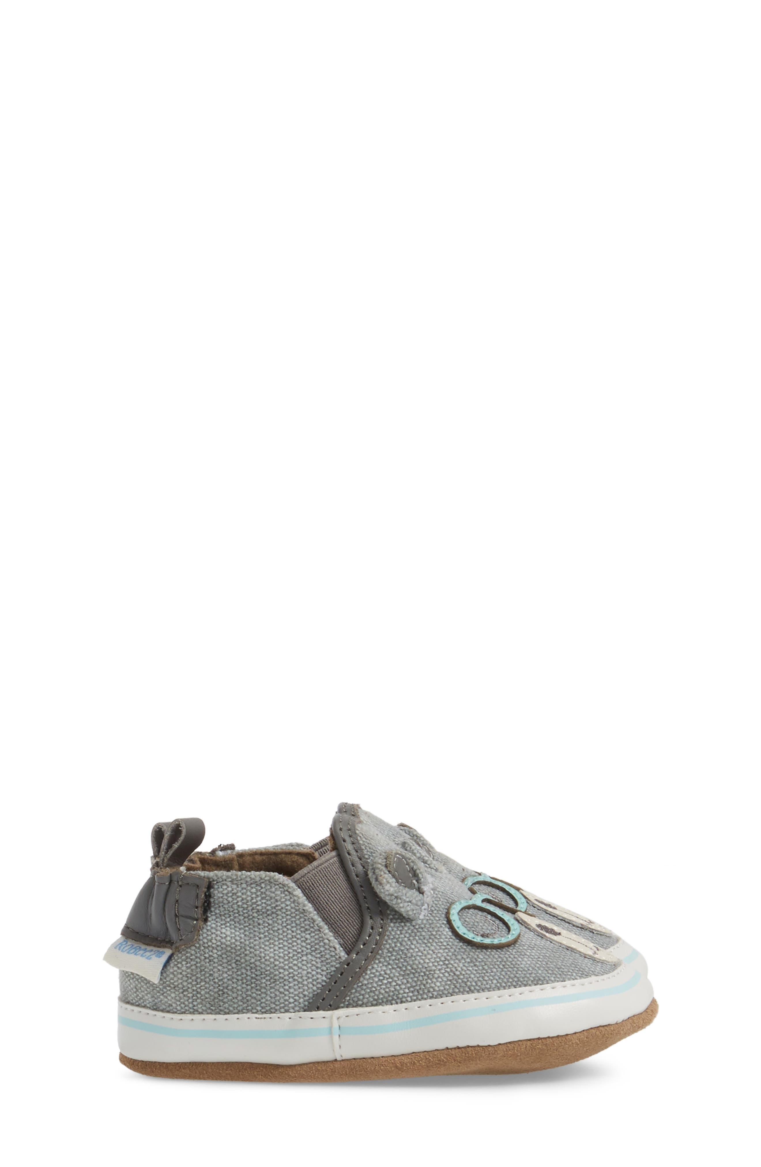 Alternate Image 3  - Robeez® 'Brainy Bear' Crib Shoe (Baby & Walker)