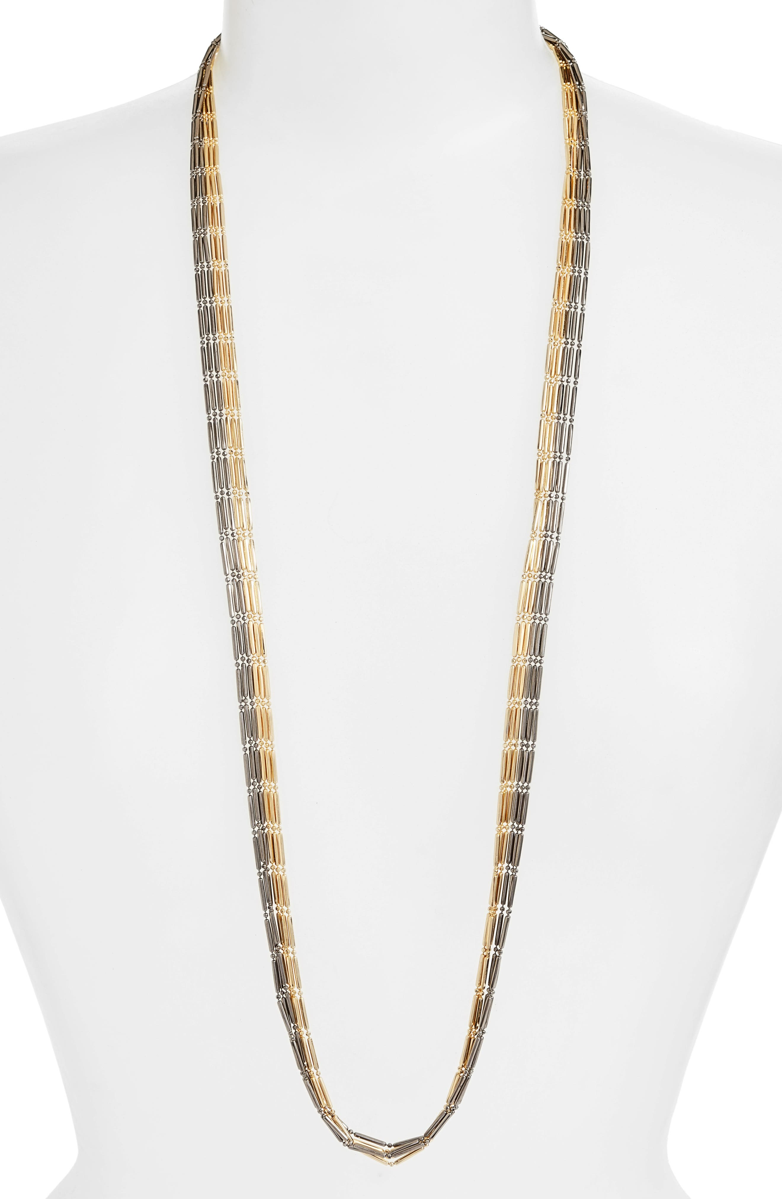 Alternate Image 1 Selected - Argento Vivo Two-Tone Multistrand Necklace