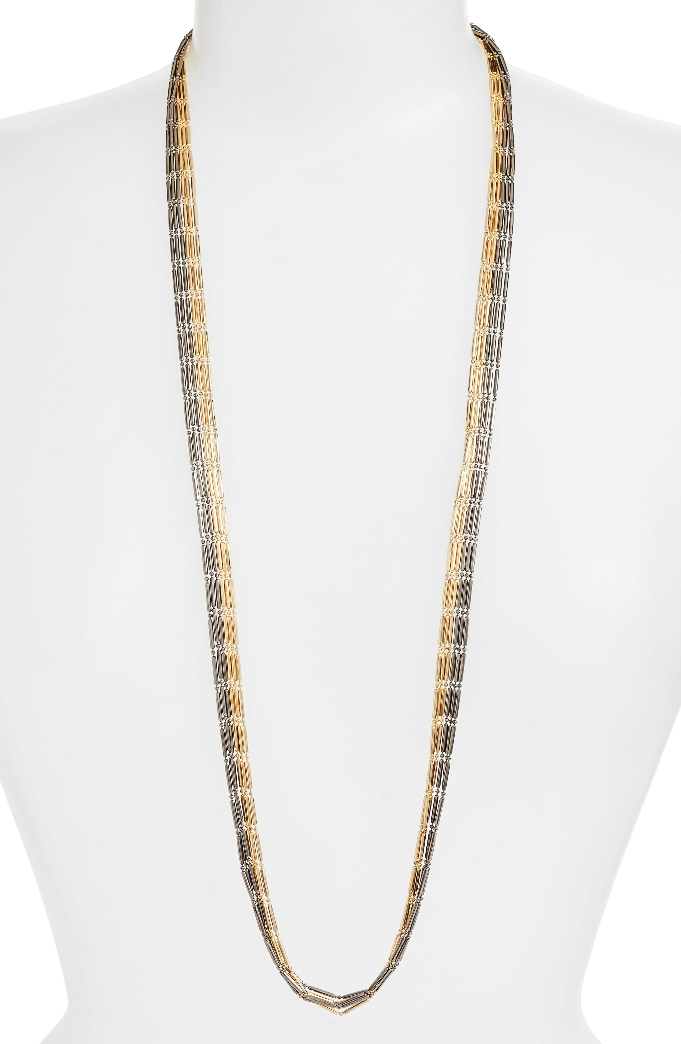 Main Image - Argento Vivo Two-Tone Multistrand Necklace