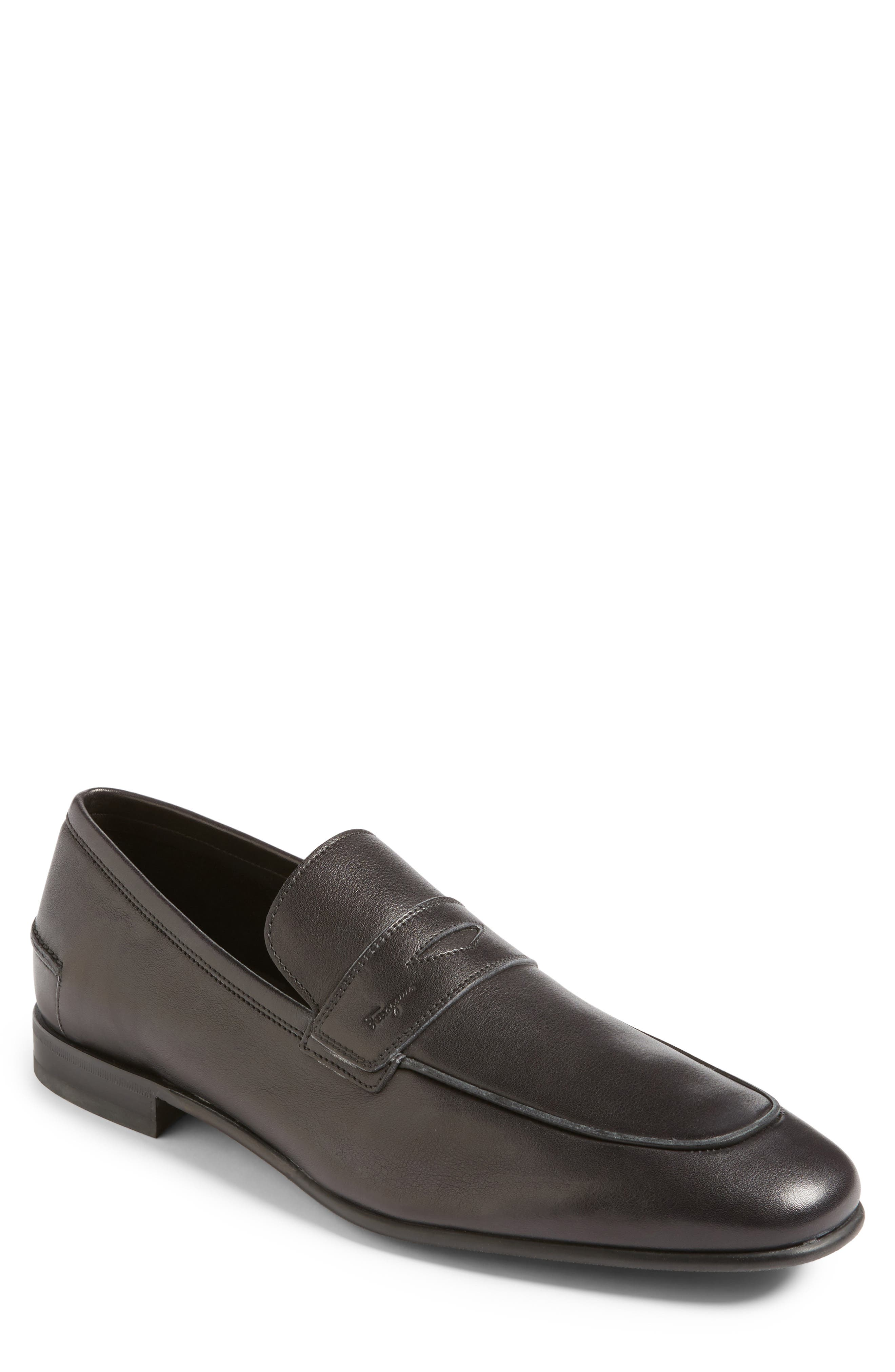 Duchamp Penny Loafer,                         Main,                         color, Nero Leather