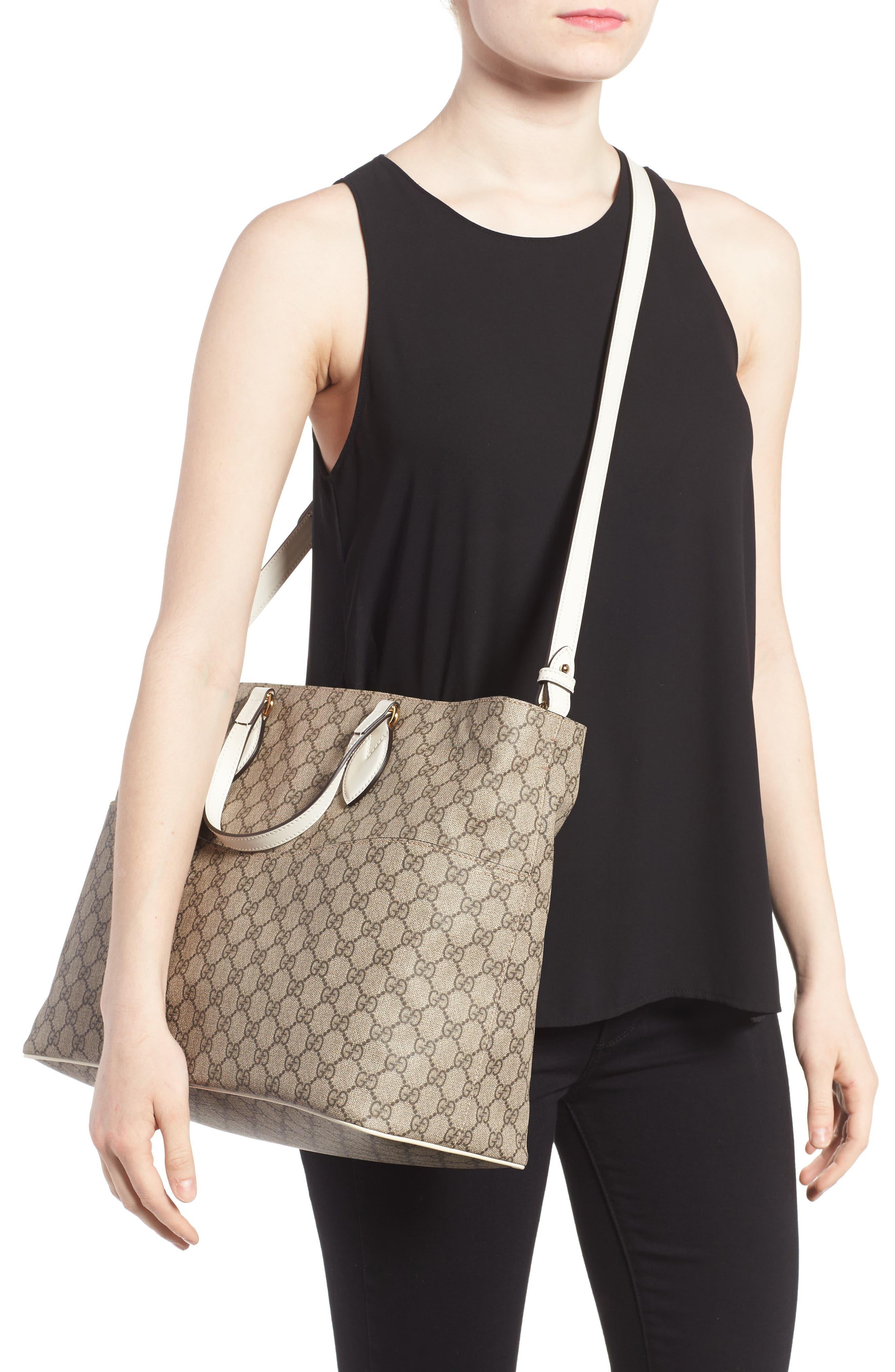 Alternate Image 2  - Gucci Logo Print Diaper Bag