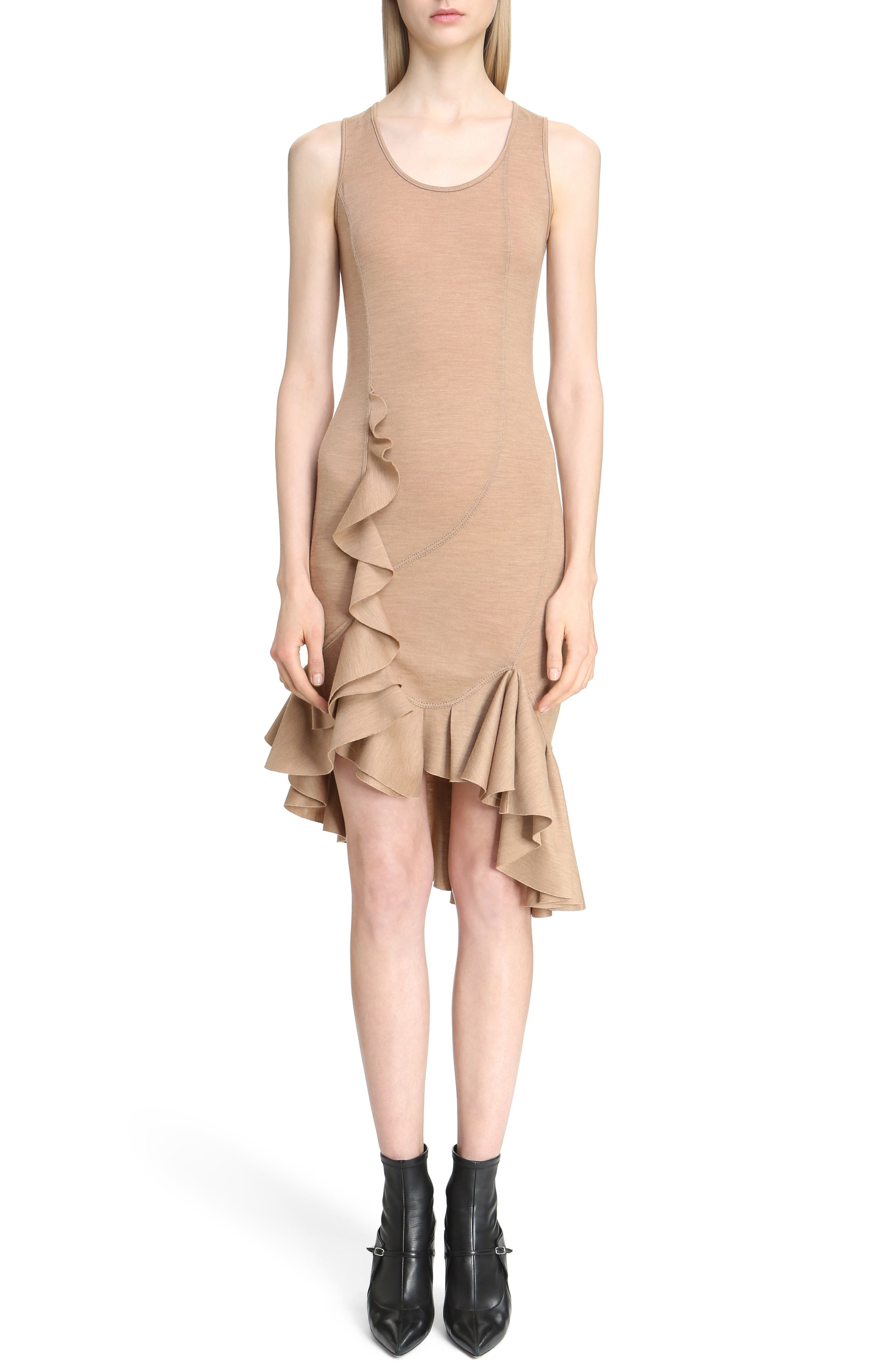 Givenchy Ruffled Wool Jersey Dress