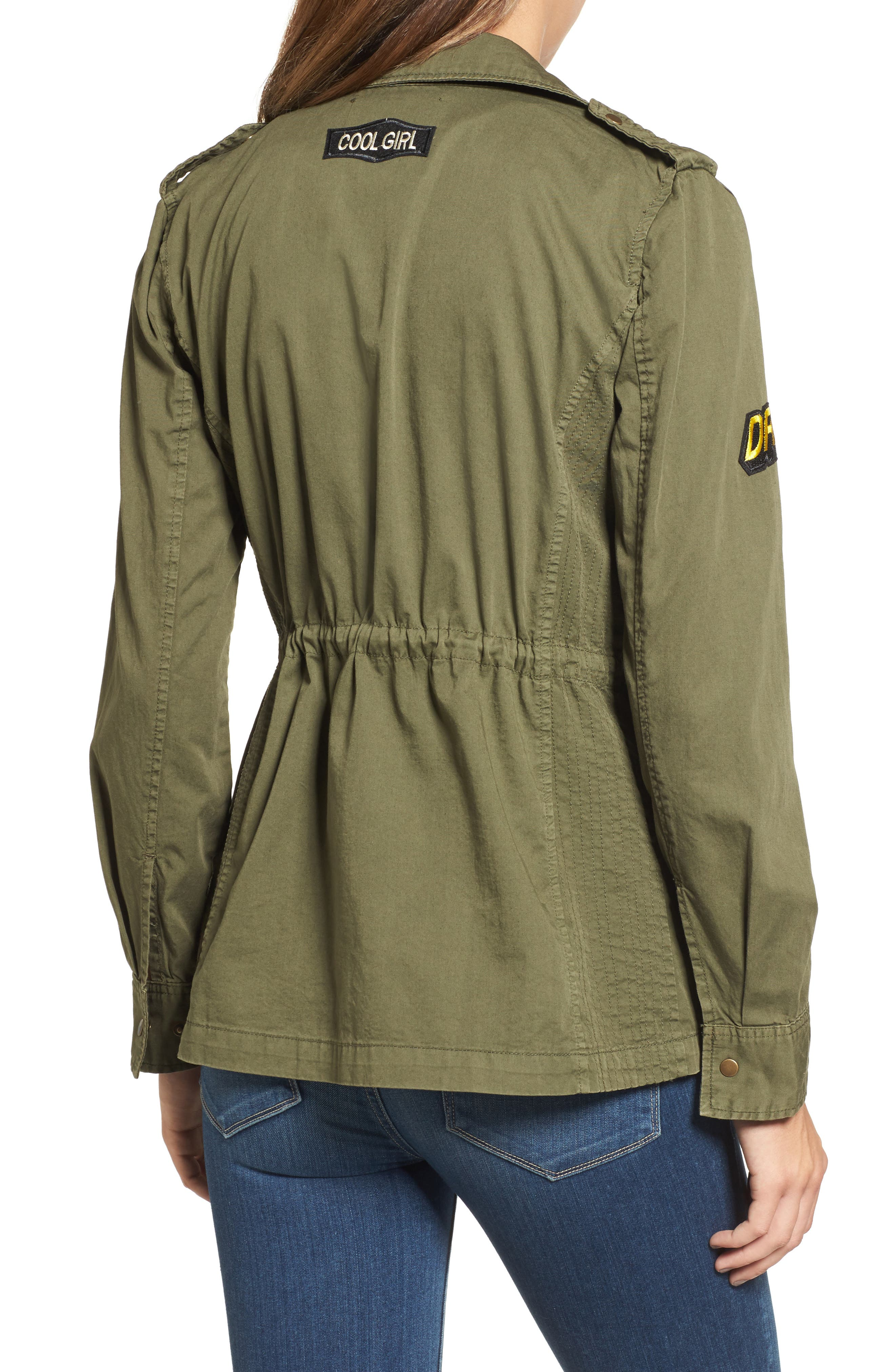 Patched Army Jacket,                             Alternate thumbnail 2, color,                             Forest Green