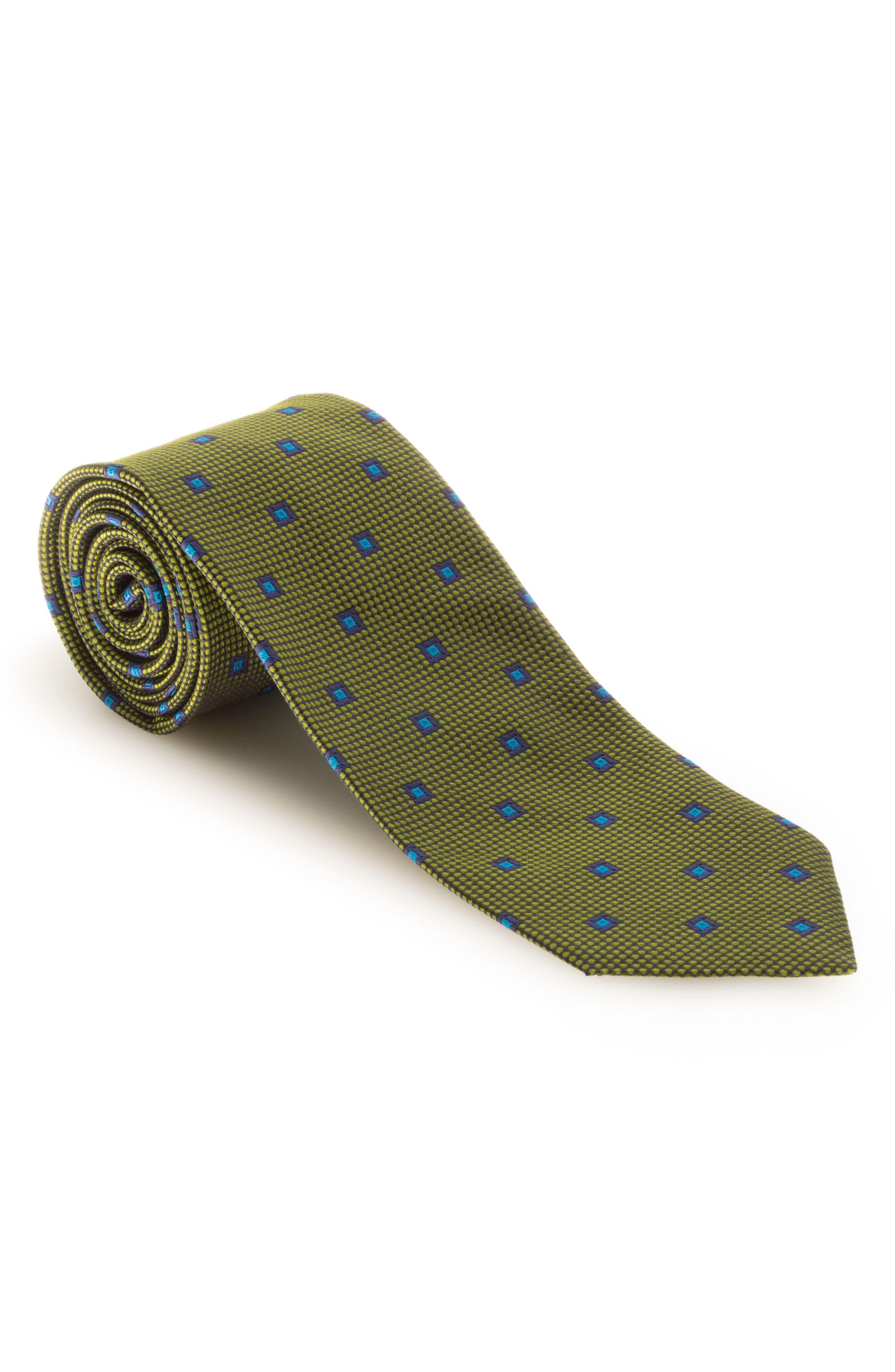 ROBERT TALBOTT Geometric Silk Tie