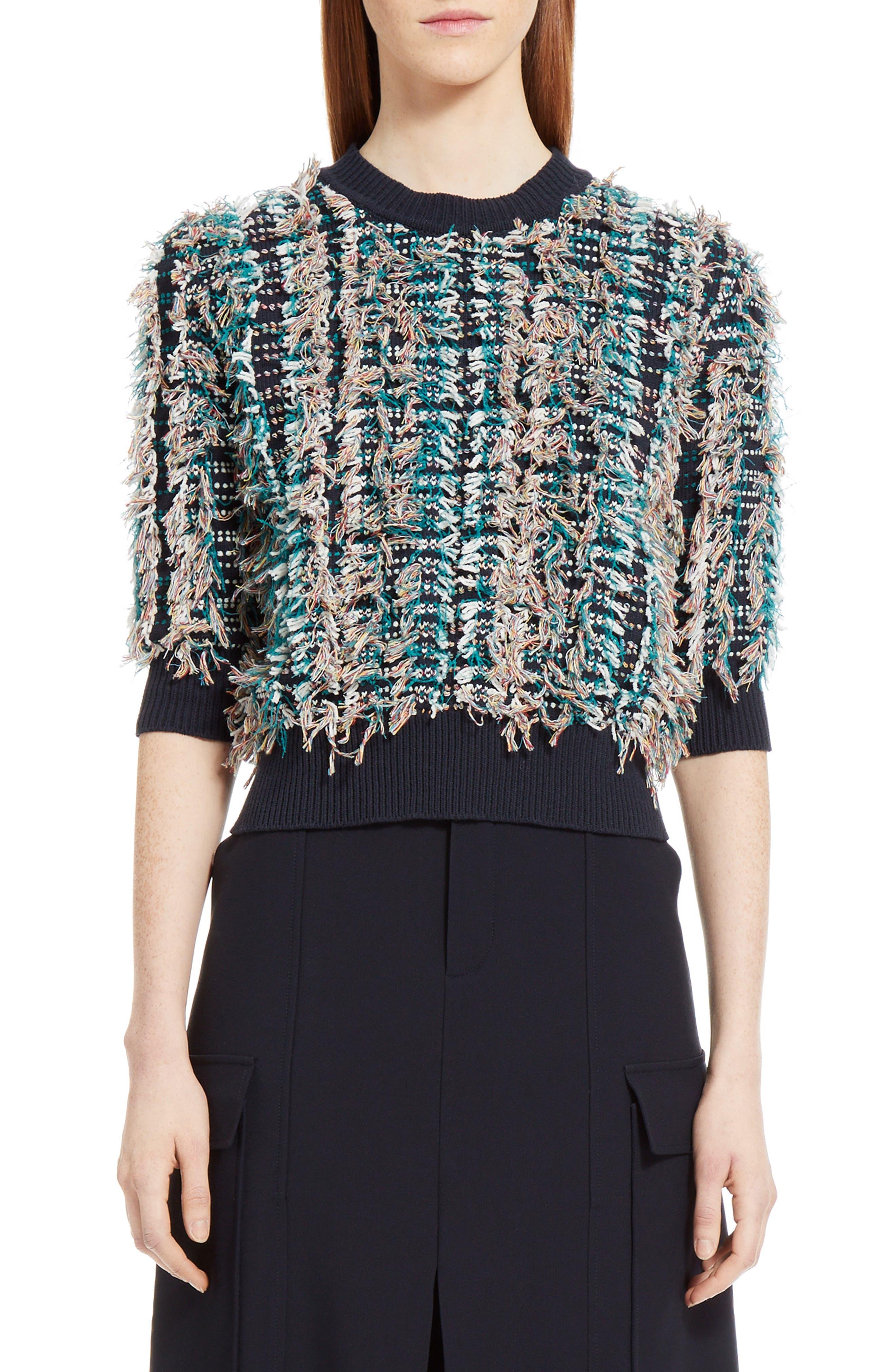 Alternate Image 1 Selected - Chloé Fringe Knit Sweater