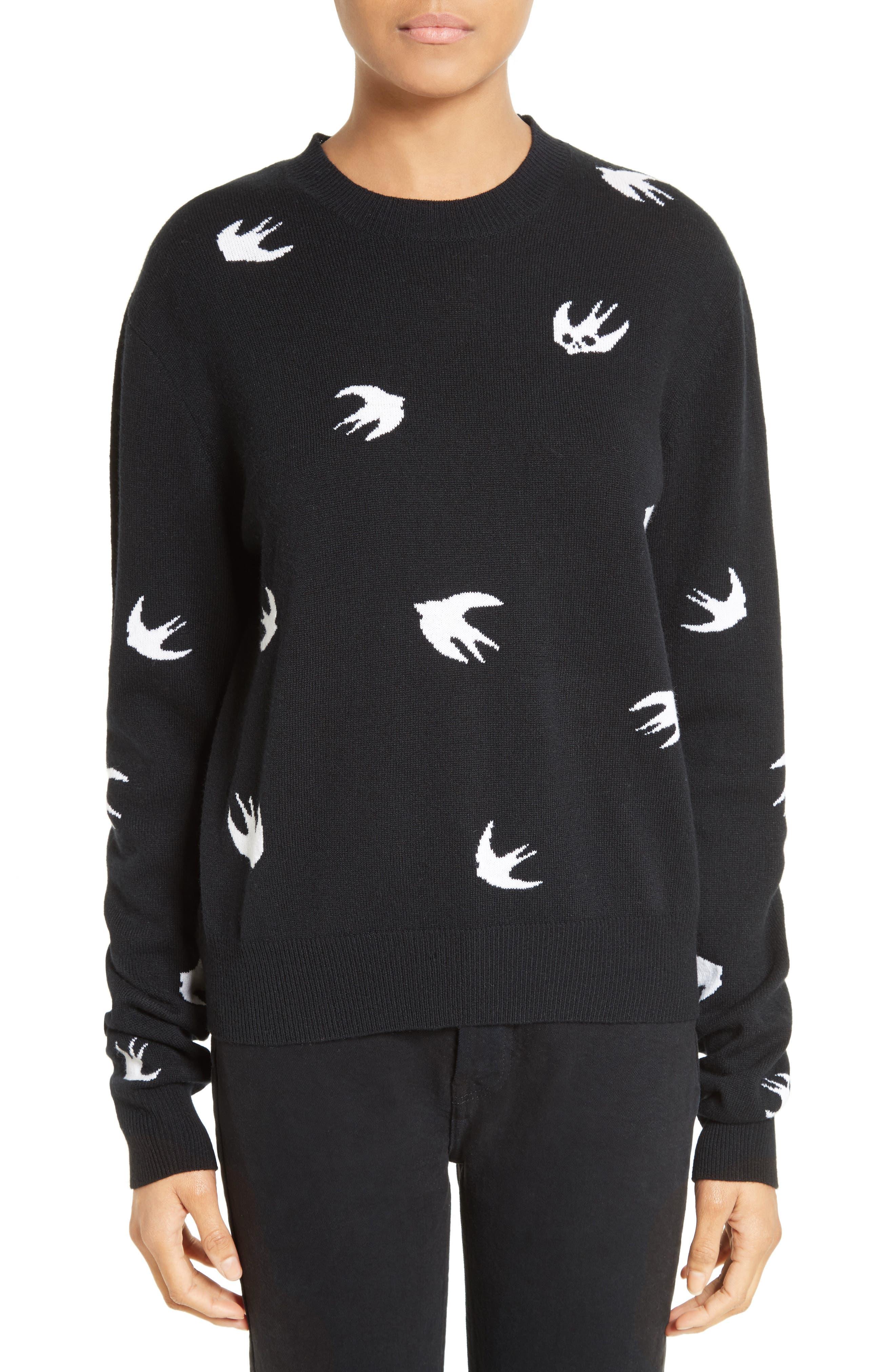 Swallow Sweater,                         Main,                         color, Darkest Black