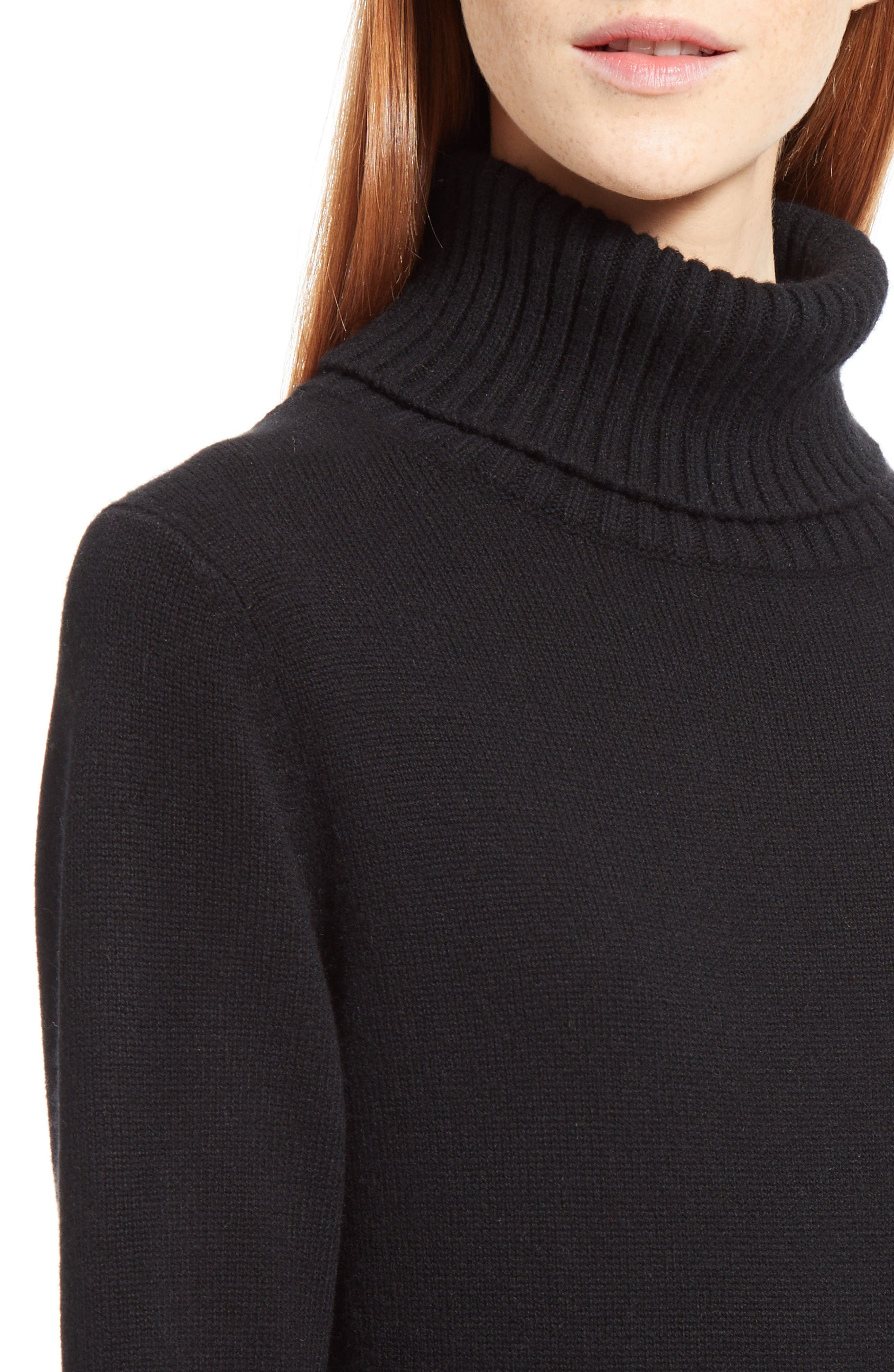 Alternate Image 6  - Chloé Cashmere Pleated Turtleneck Dress