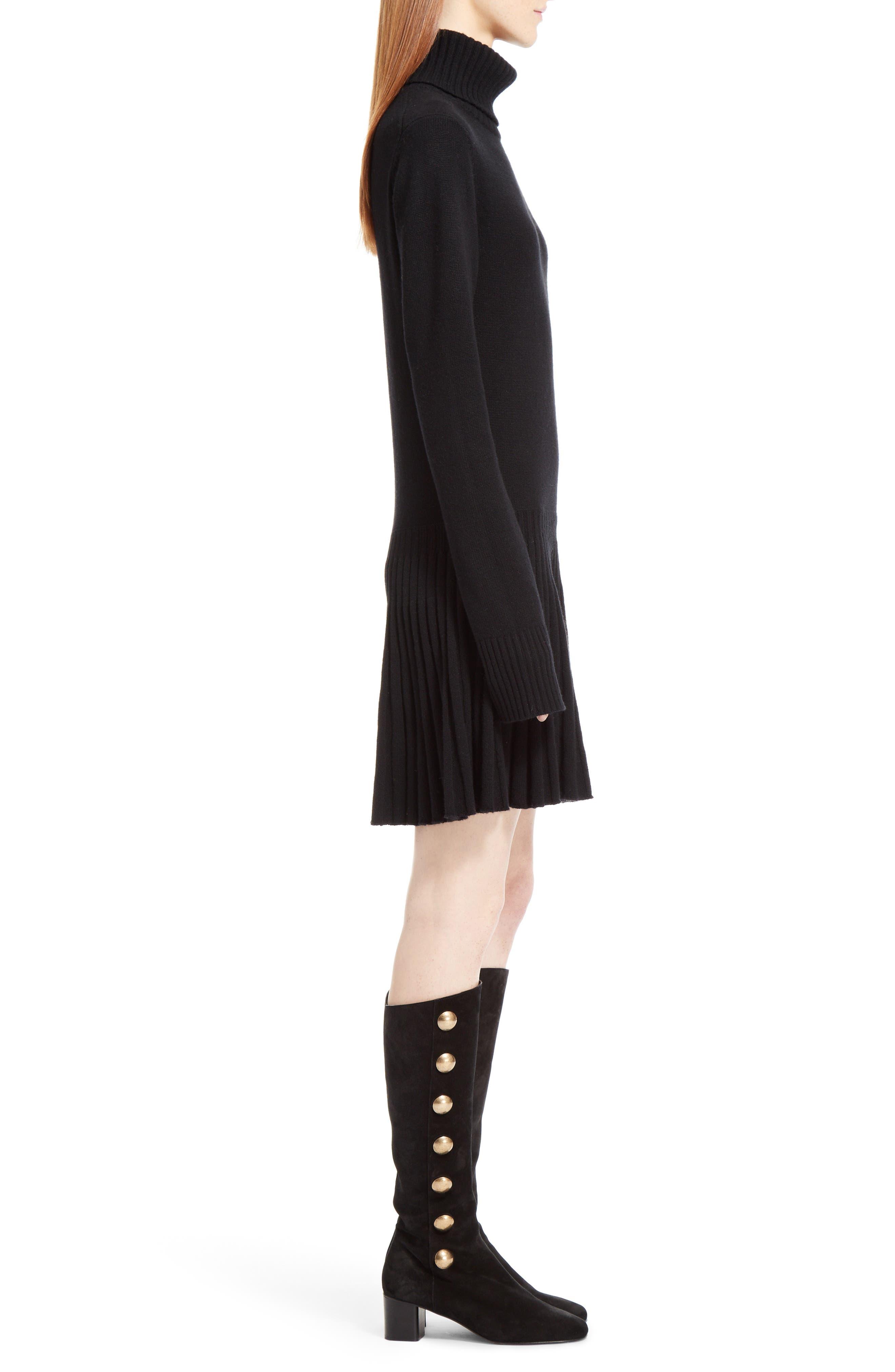 Alternate Image 4  - Chloé Cashmere Pleated Turtleneck Dress