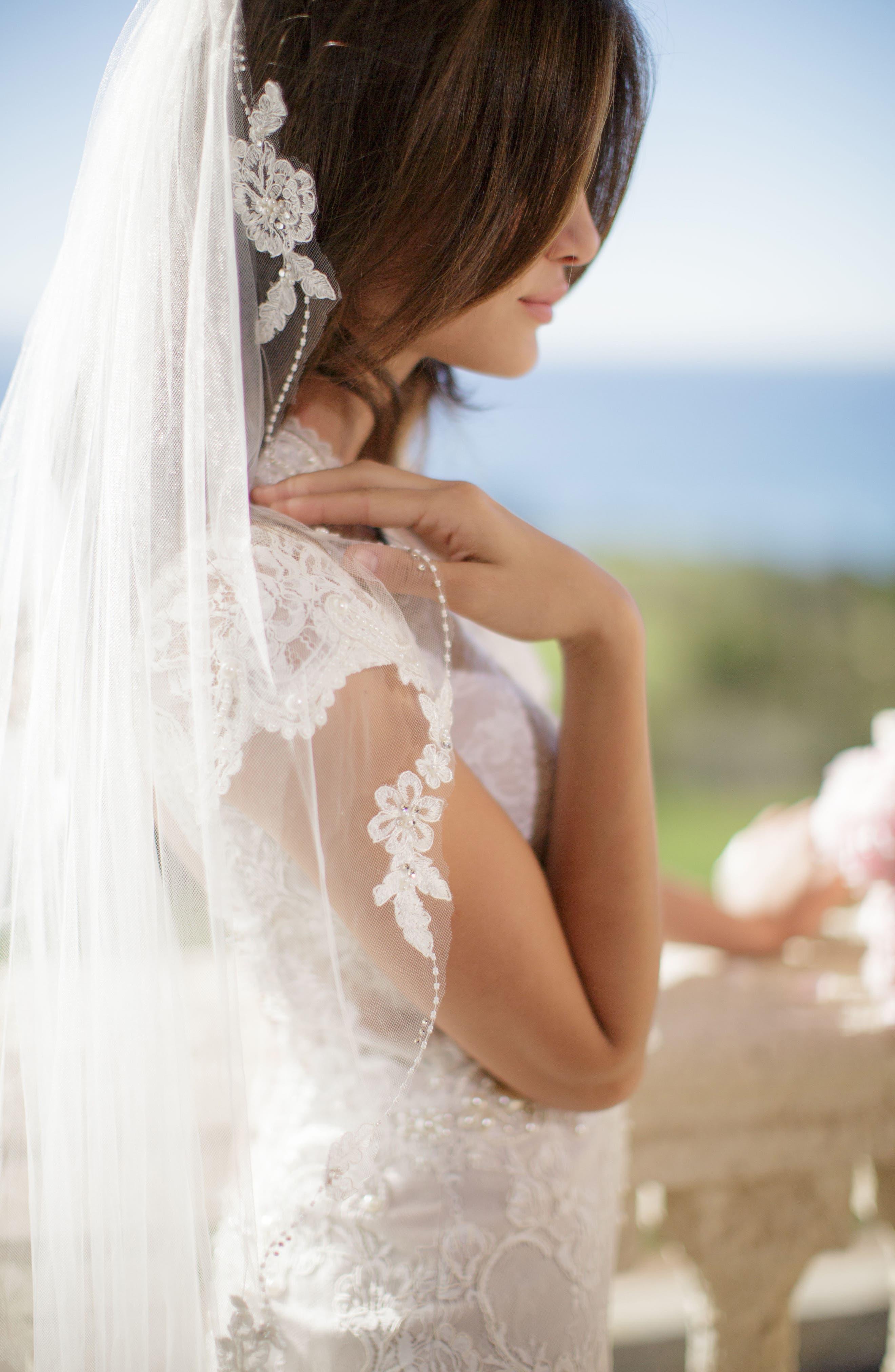 Alternate Image 2  - Brides & Hairpins Mikaela Embellished Veil