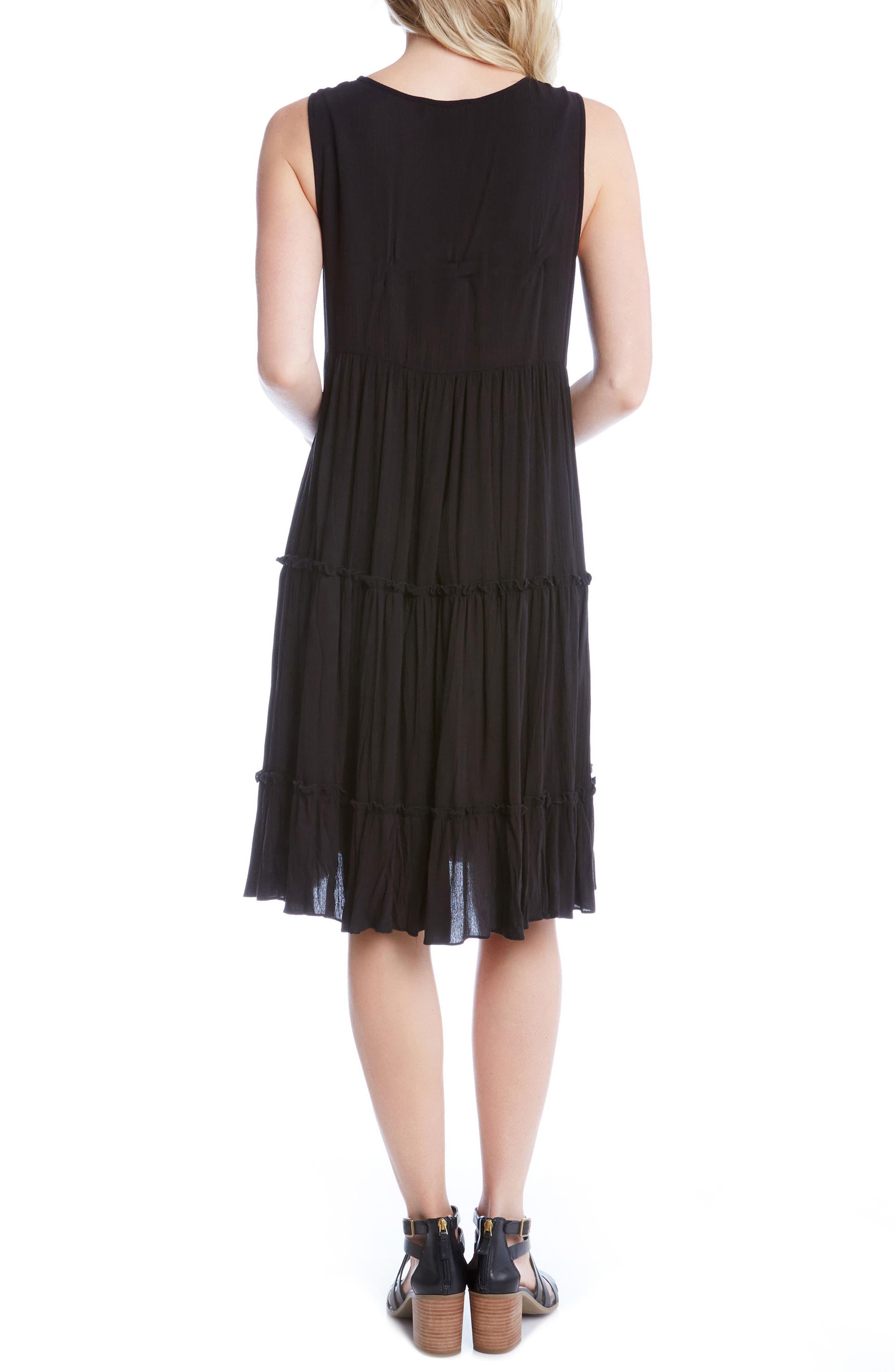 Alternate Image 2  - Karen Kane Embroidered Tiered A-Line Dress