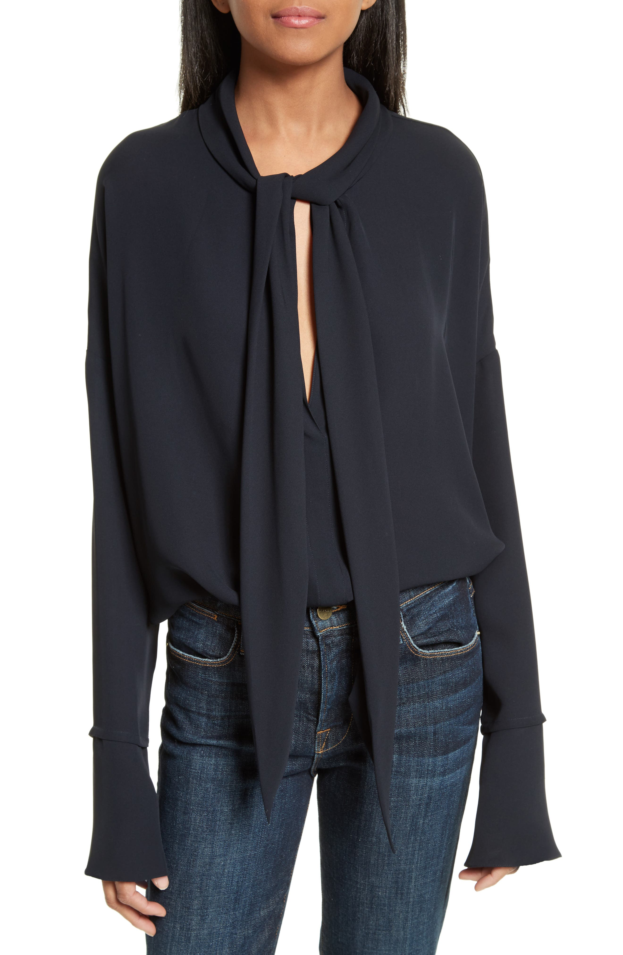 Theory Silk Scarf Shirt