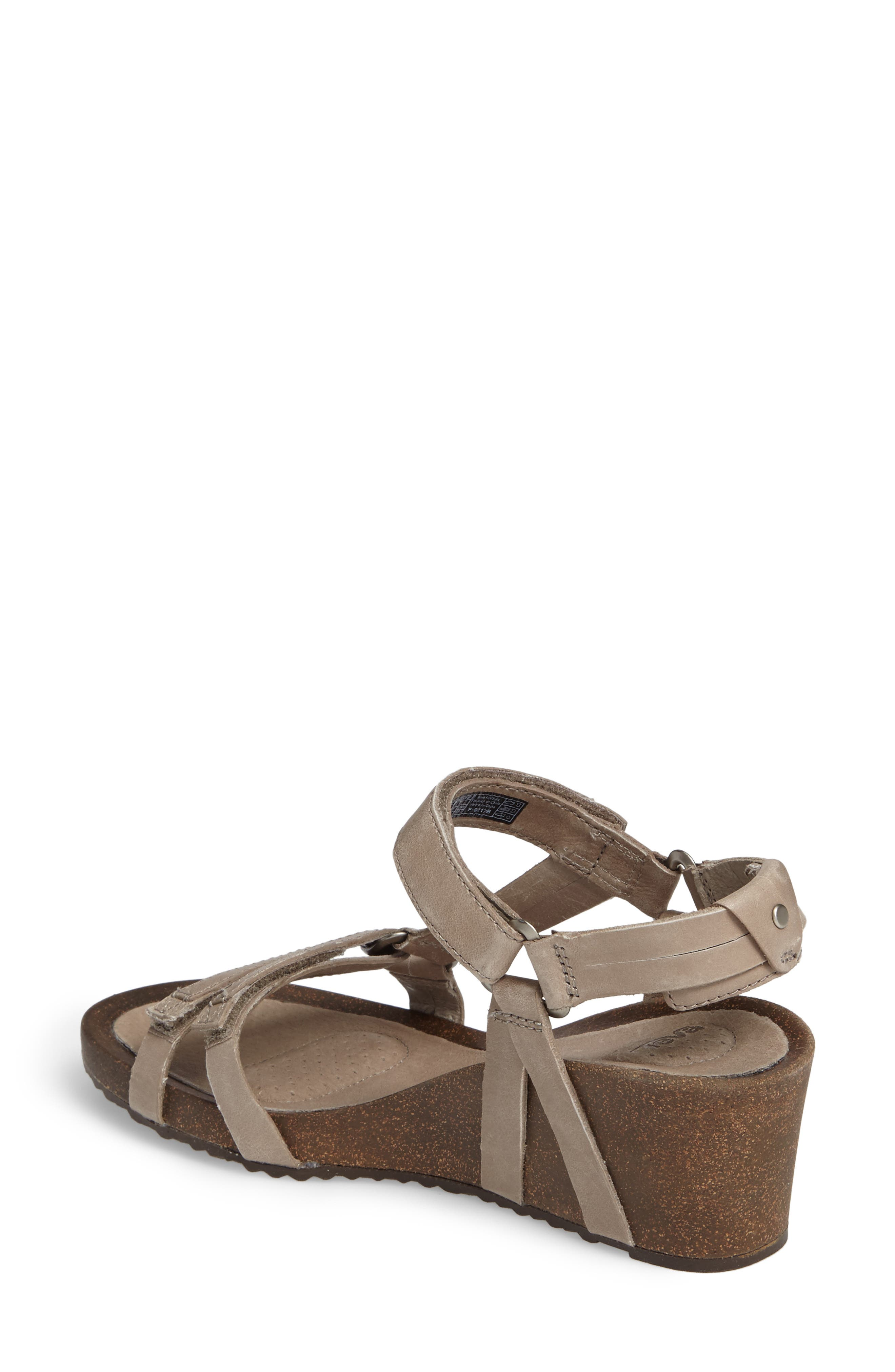 Ysidro Wedge Sandal,                             Alternate thumbnail 2, color,                             Taupe Leather