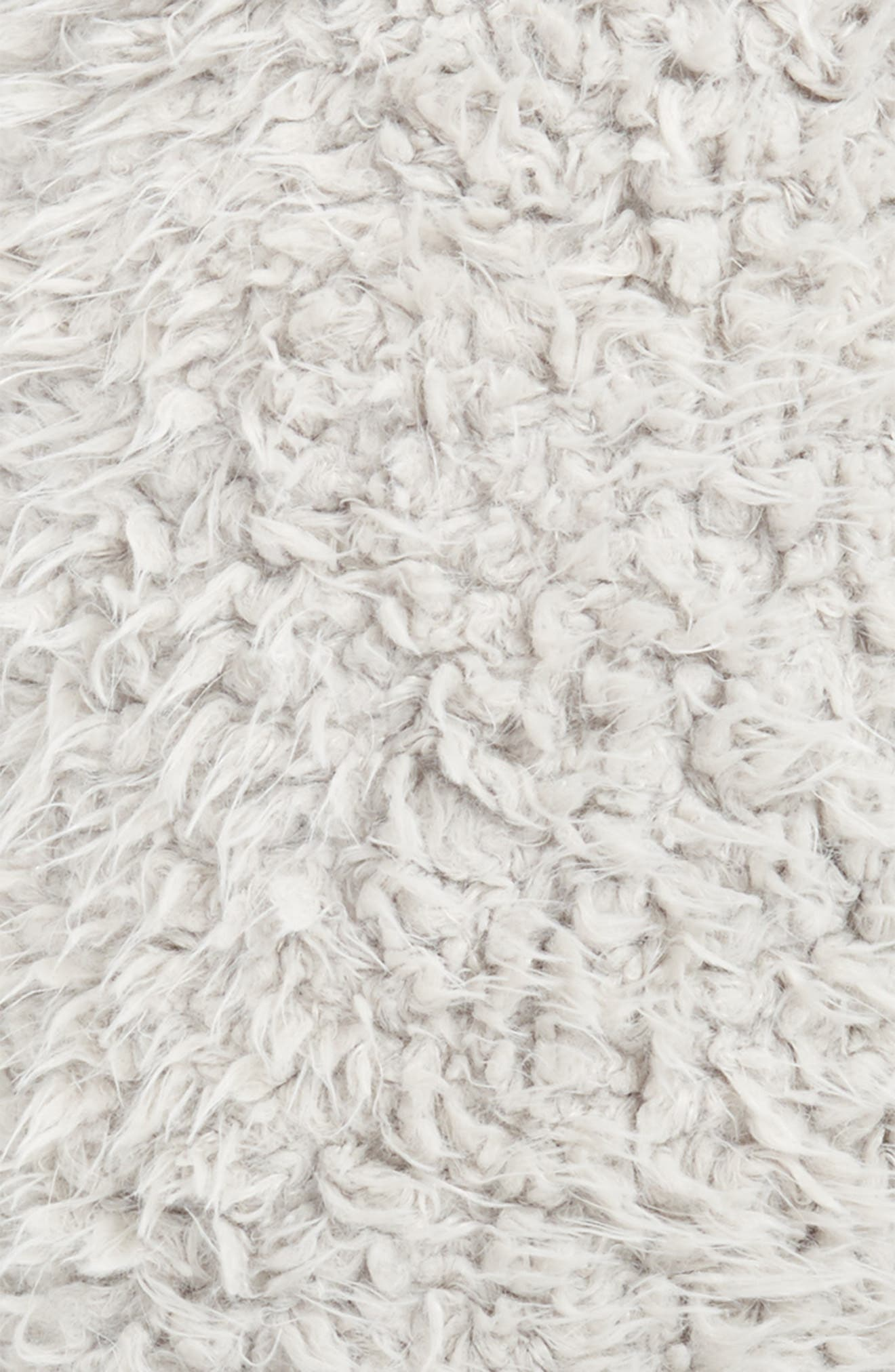 Shaggy Faux Fur Pillow,                             Alternate thumbnail 3, color,                             Grey Vapor