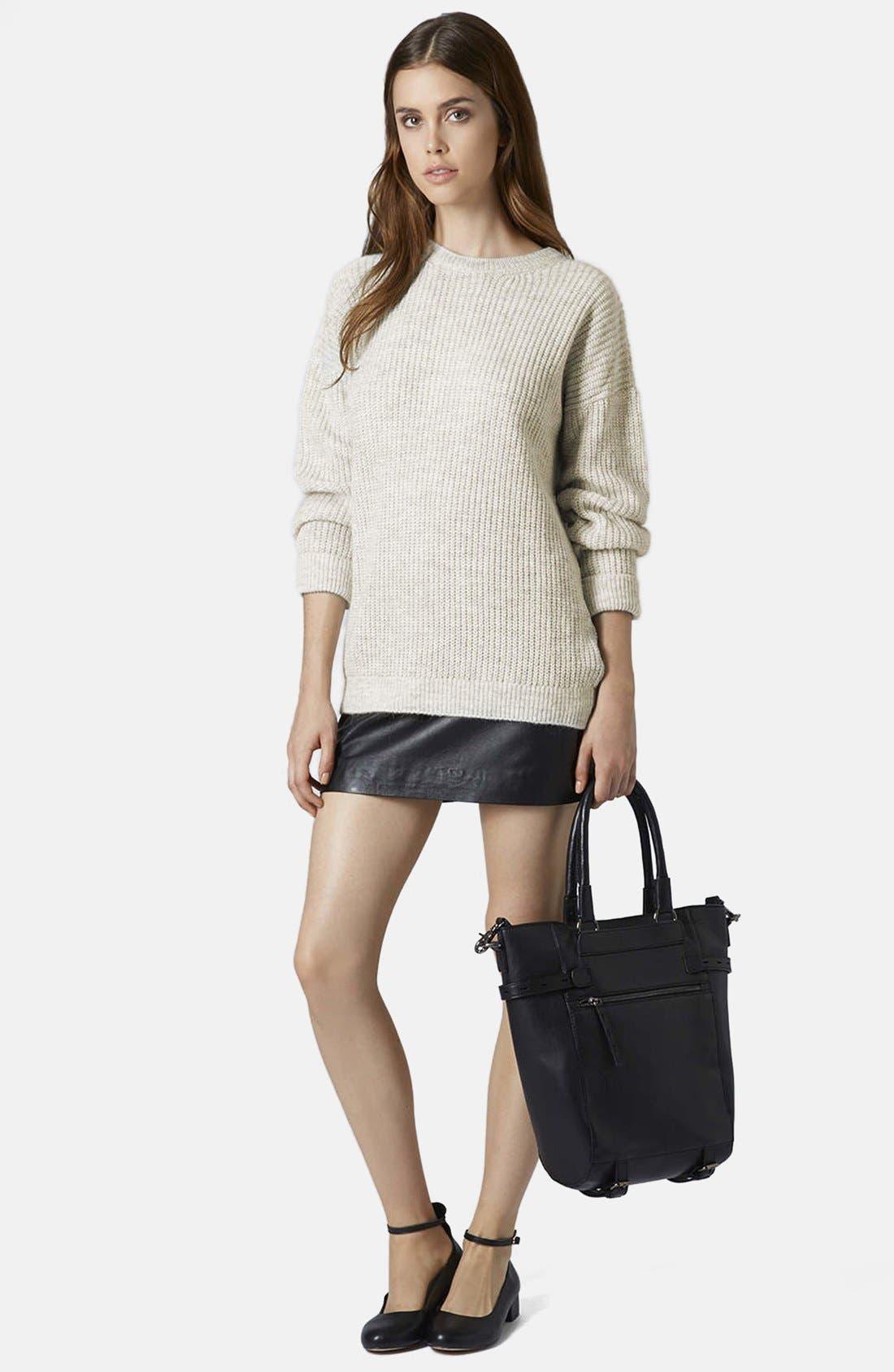 Alternate Image 2  - Topshop 'Lofty' Ribbed Sweater