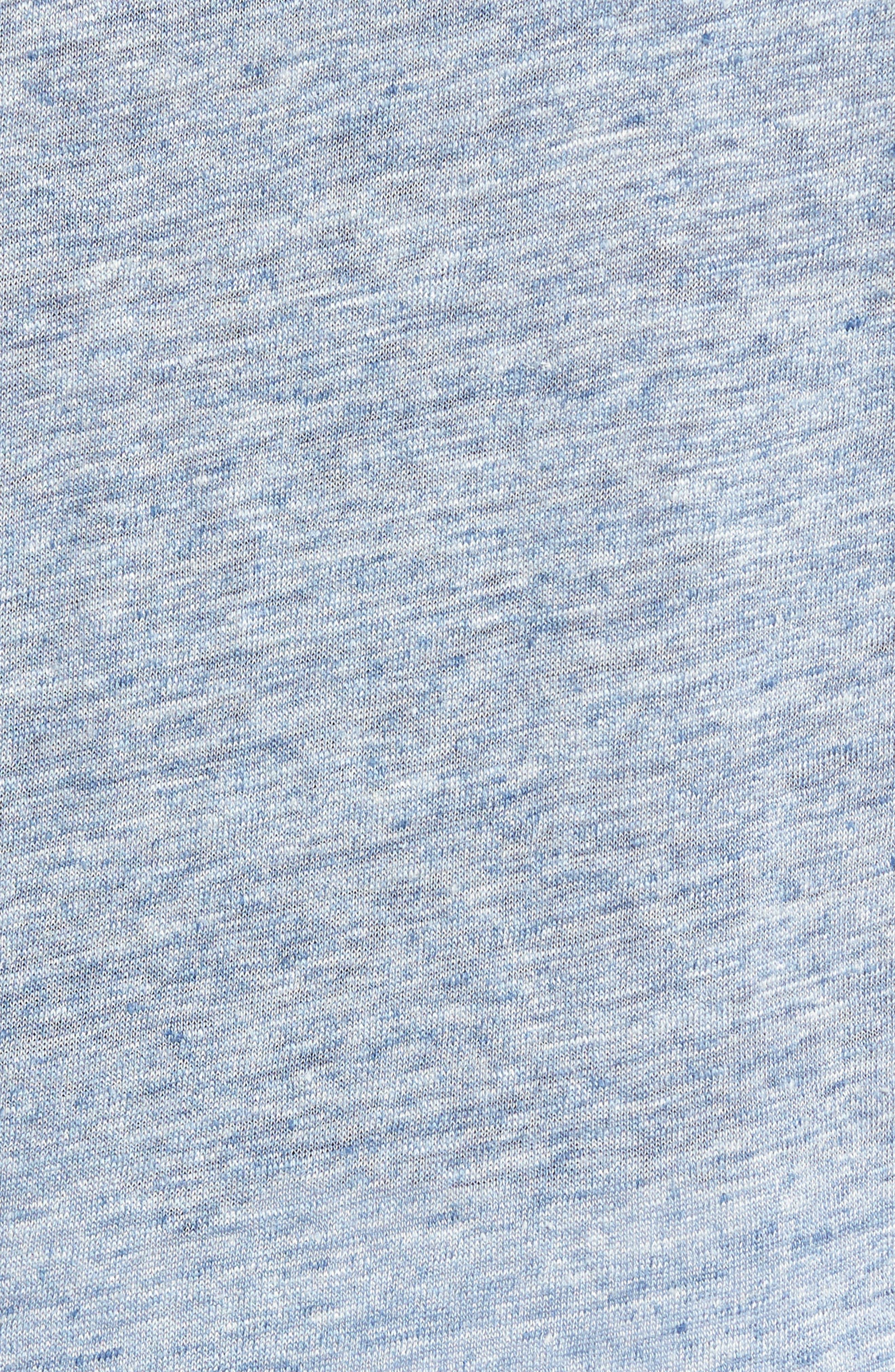 Monad Colorblock Linen T-Shirt,                             Alternate thumbnail 6, color,                             Blue Mountain