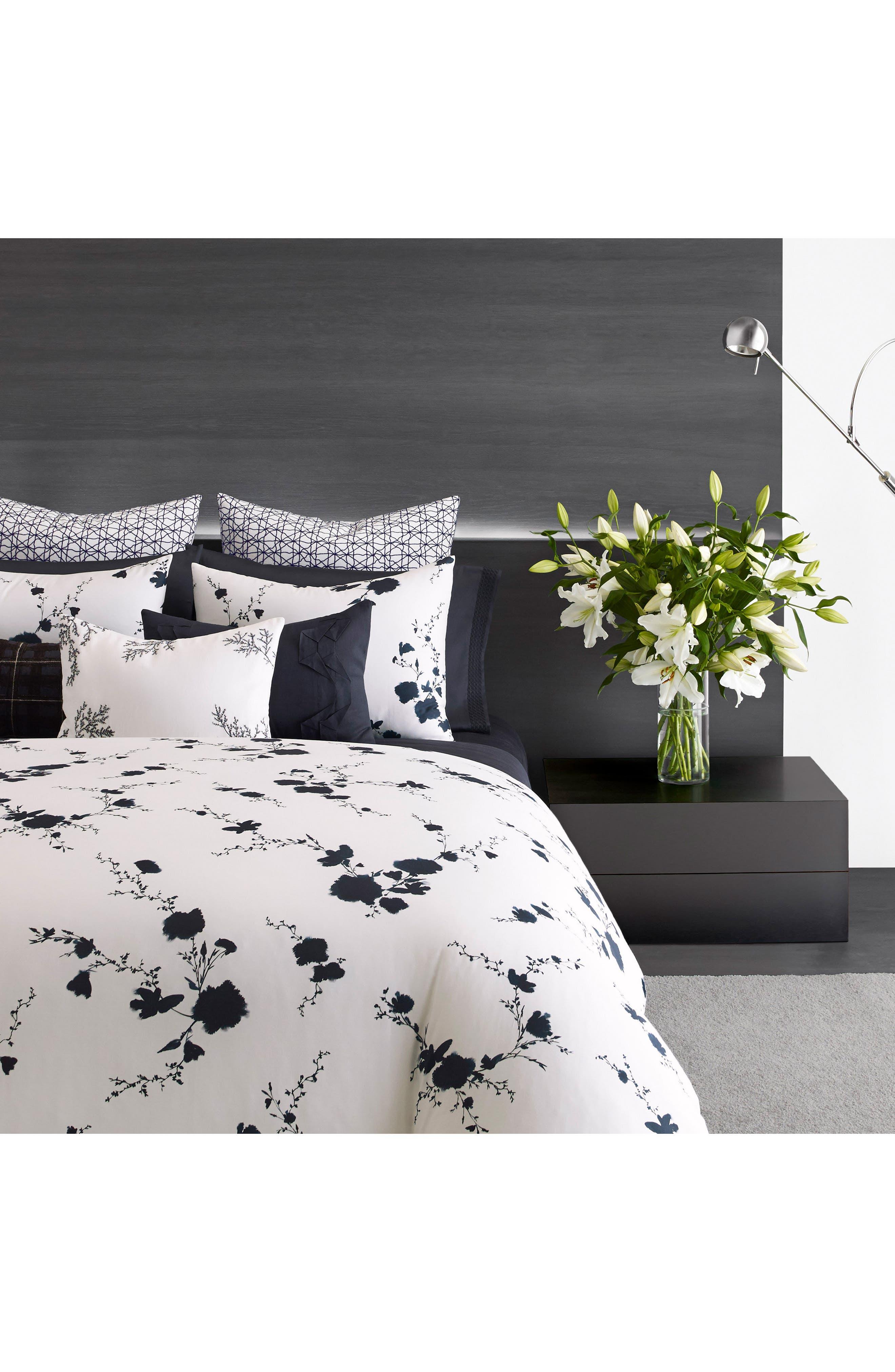 Alternate Image 1 Selected - Vera Wang Ink Wash Floral Duvet Cover