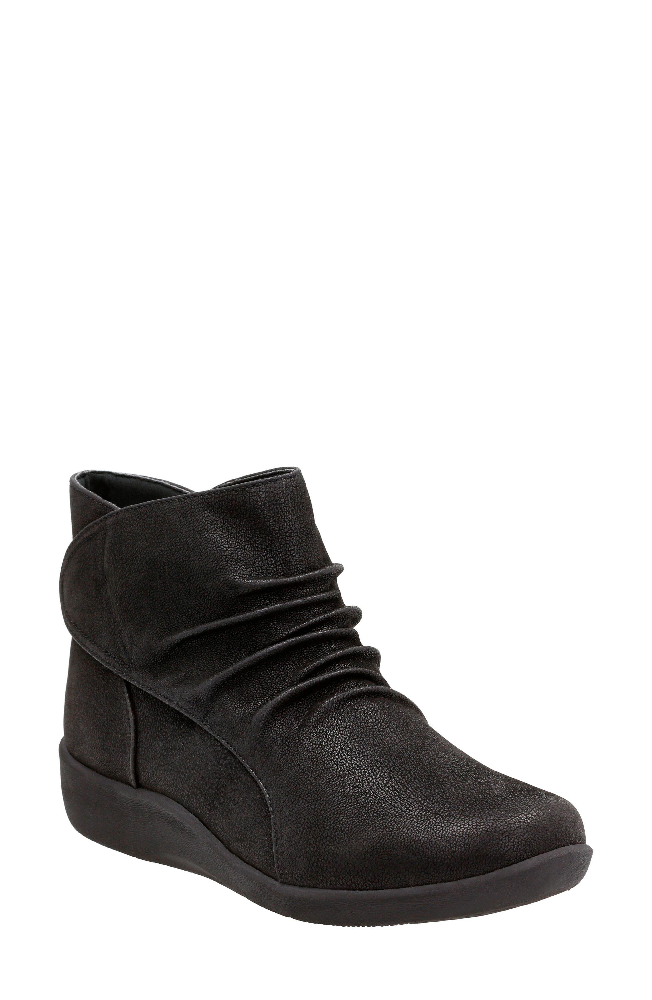 Sillian Sway Boot,                         Main,                         color, Black Fabric