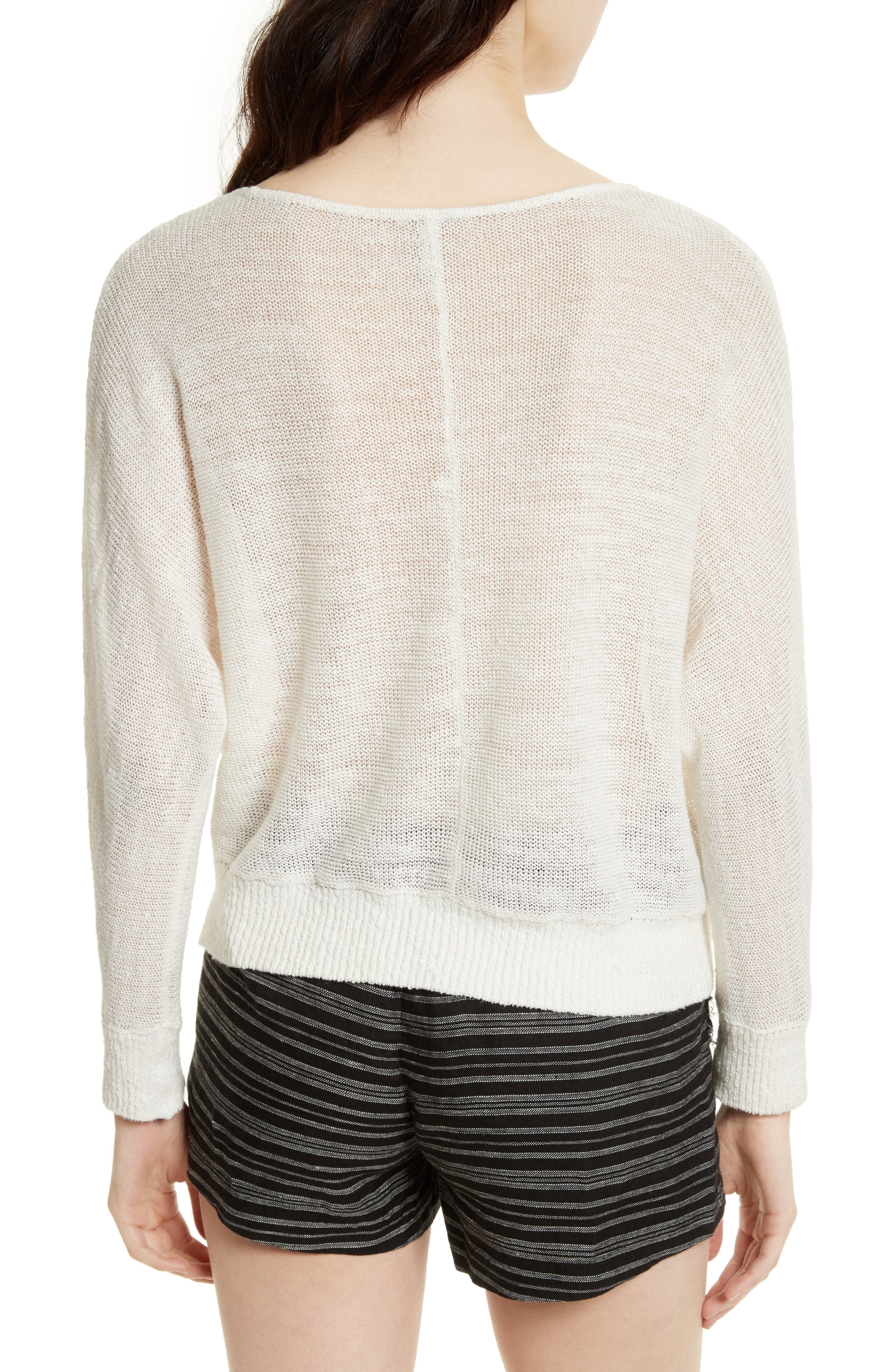 Alternate Image 2  - Joie Clady Linen Open Knit Pullover