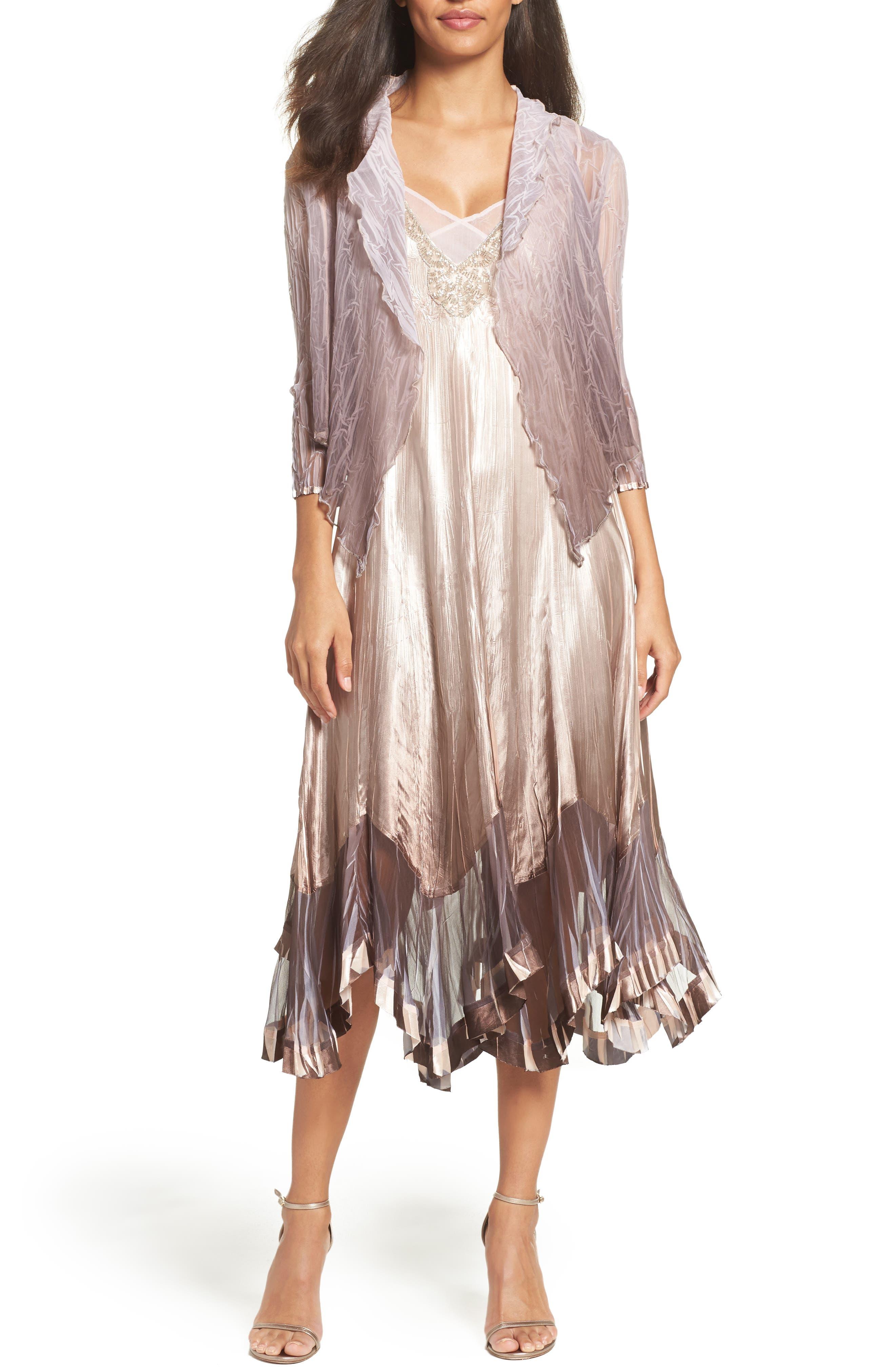 Main Image - Komarov Dress with Jacket (Regular & Petite)
