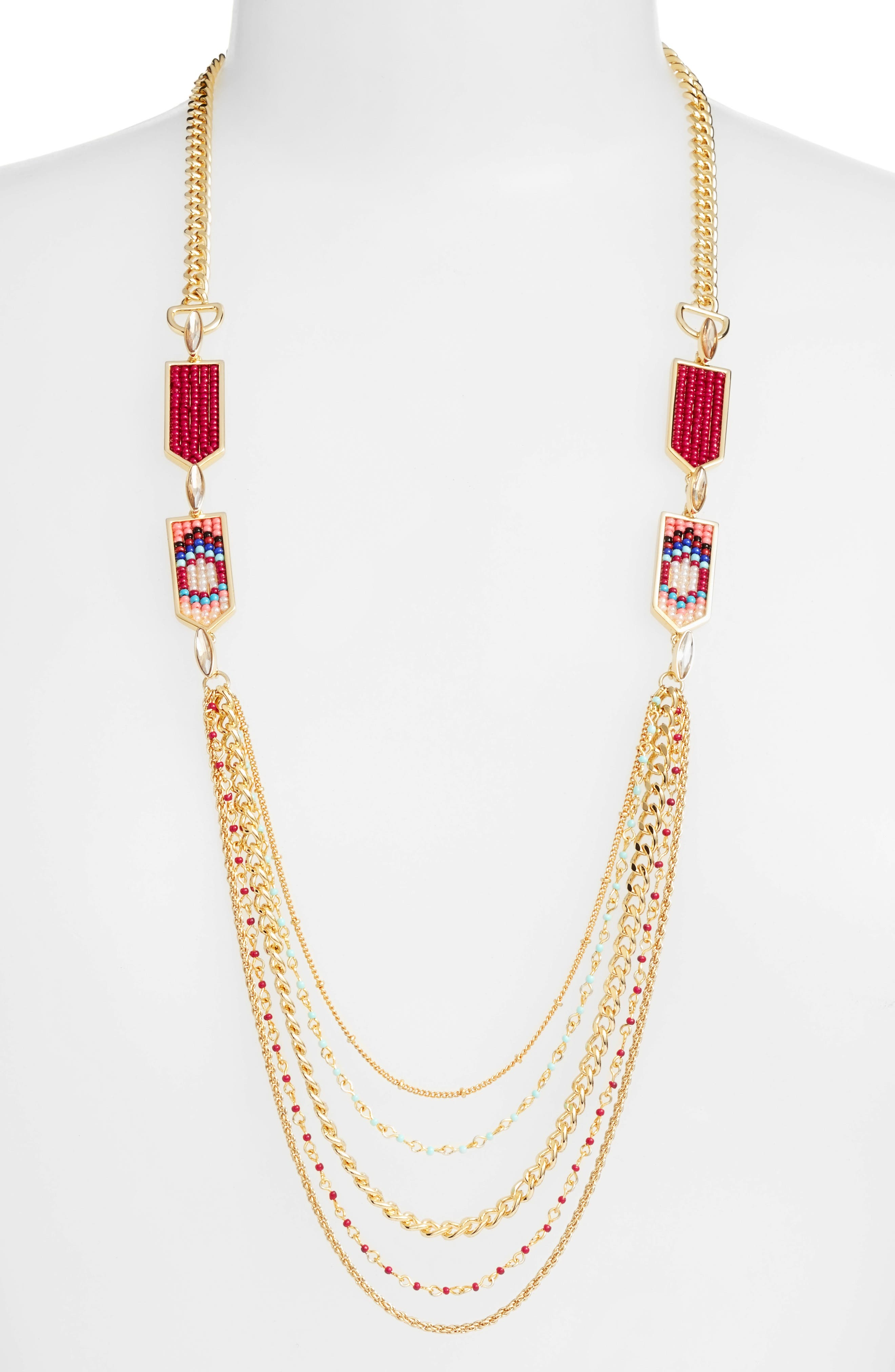 Alternate Image 1 Selected - Rebecca Minkoff Catalina Seed Bead Multi Strand Necklace