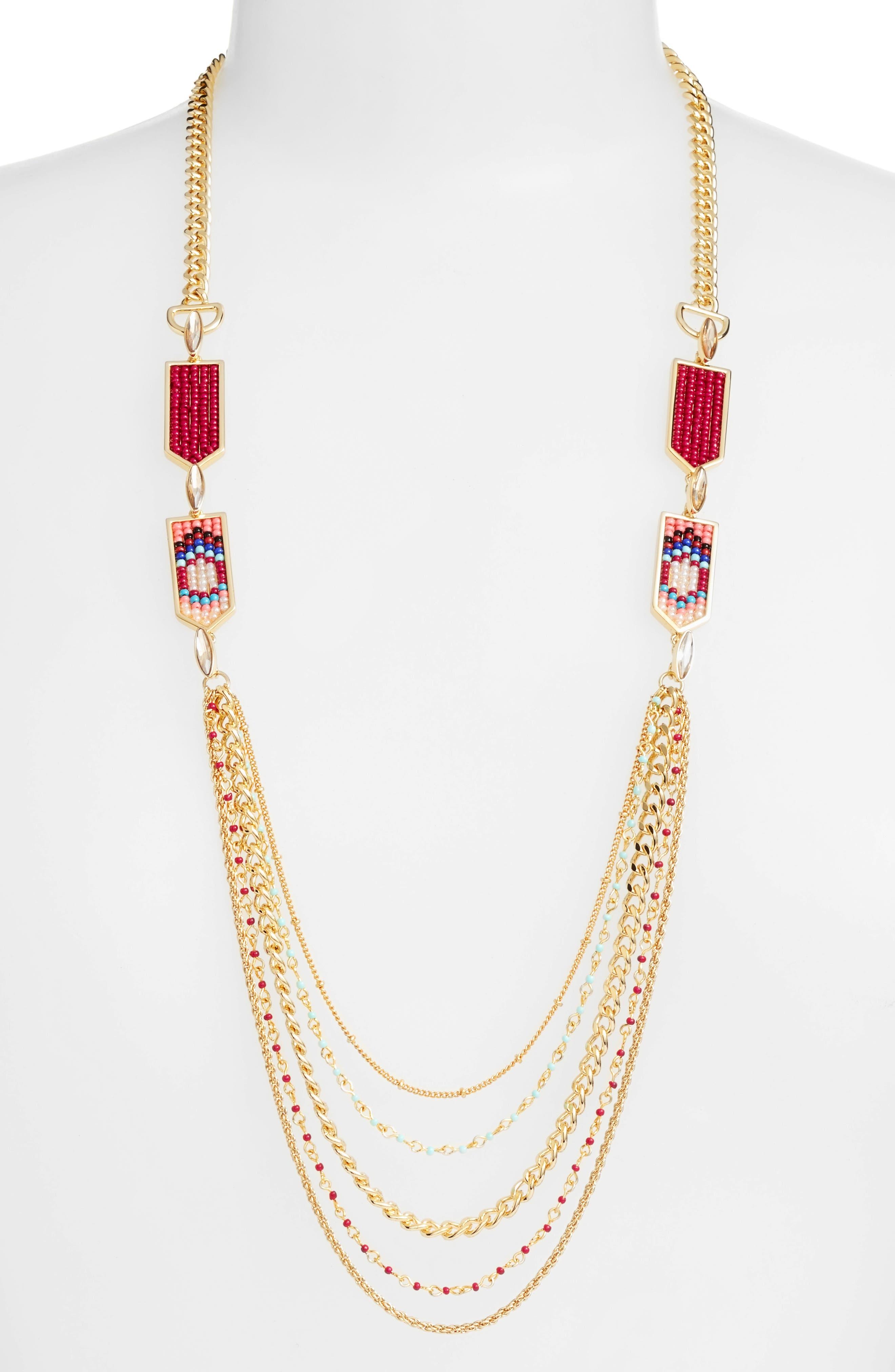 Main Image - Rebecca Minkoff Catalina Seed Bead Multi Strand Necklace