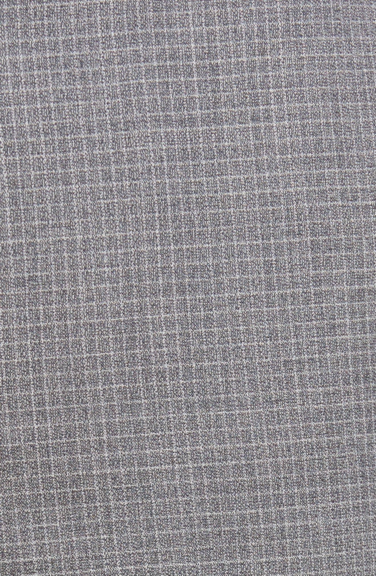 Alternate Image 5  - BOSS Genesis Flat Front Check Wool Trousers