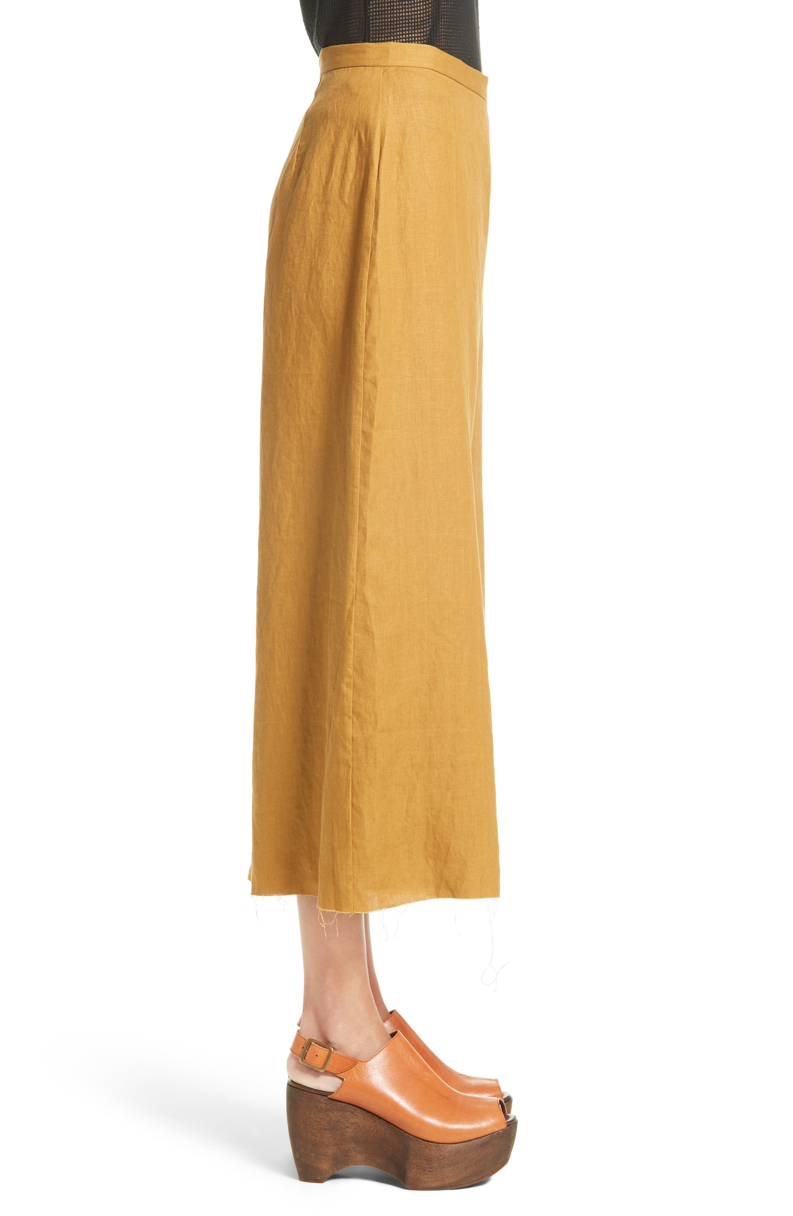 Alder Wide Leg Pants,                             Alternate thumbnail 5, color,                             Maize