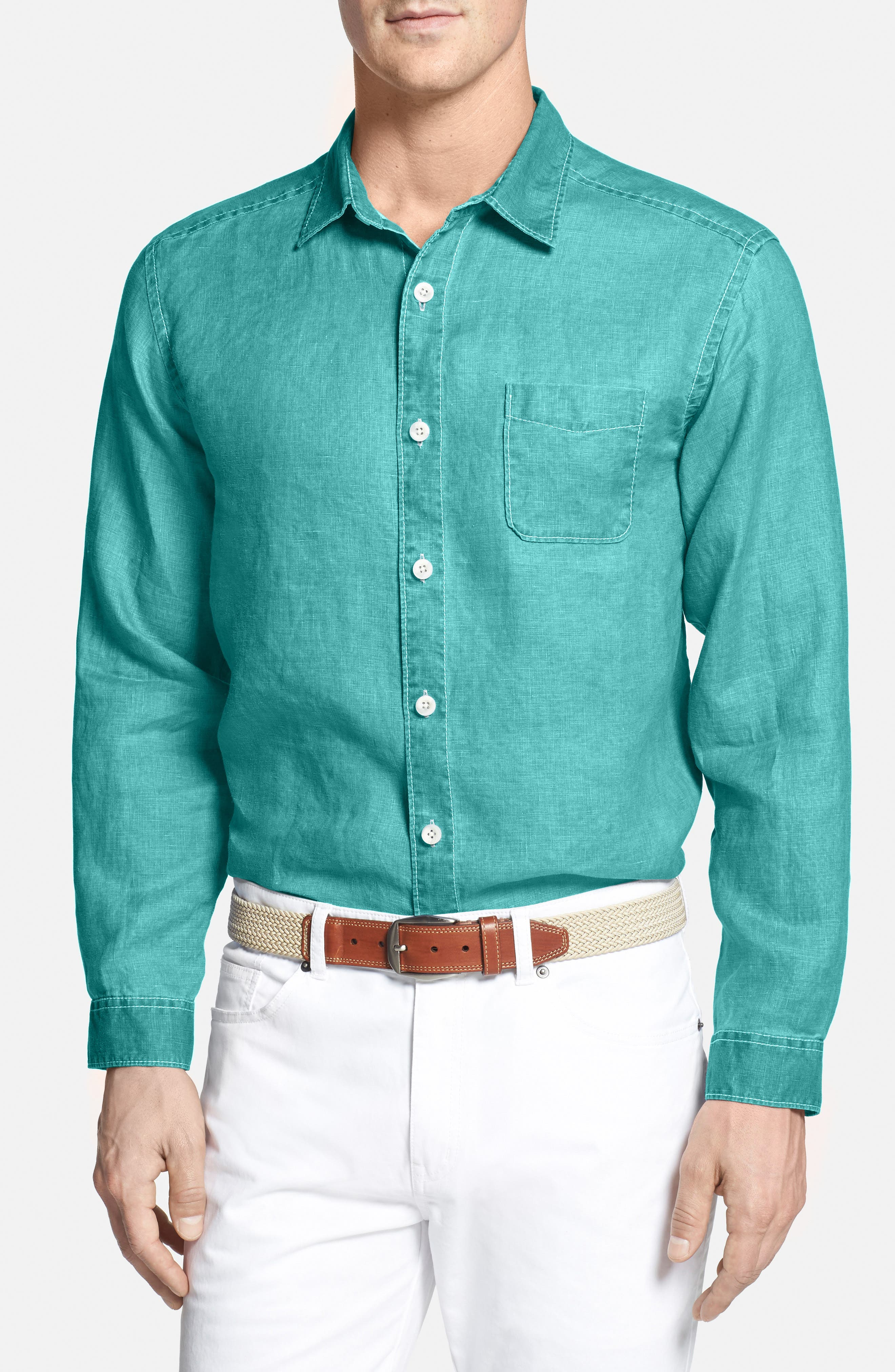 Alternate Image 1 Selected - Tommy Bahama Sea Glass Breezer Linen Sport Shirt