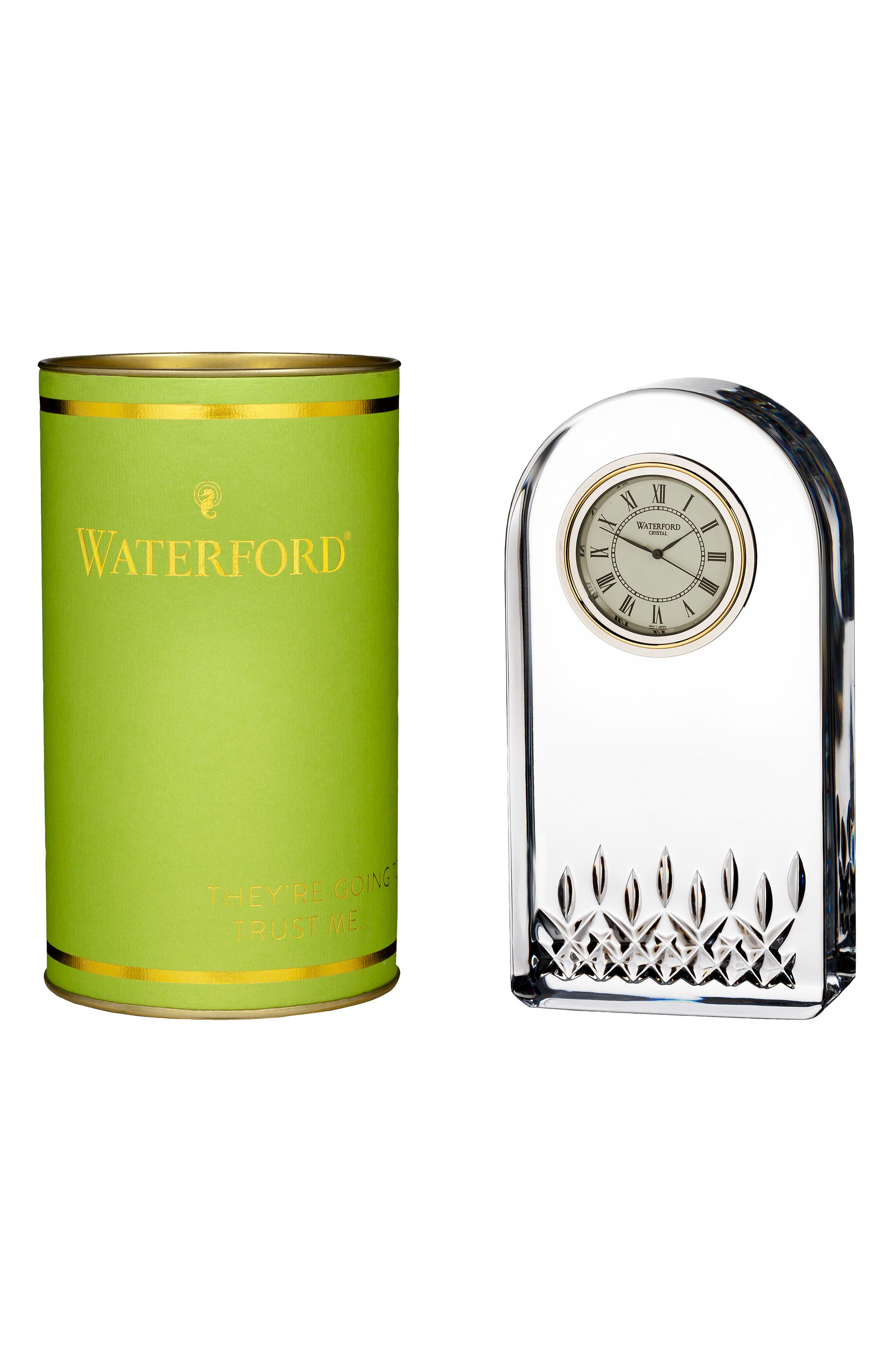 Main Image - Waterford Giftology Lismore Essence Lead Crystal Clock