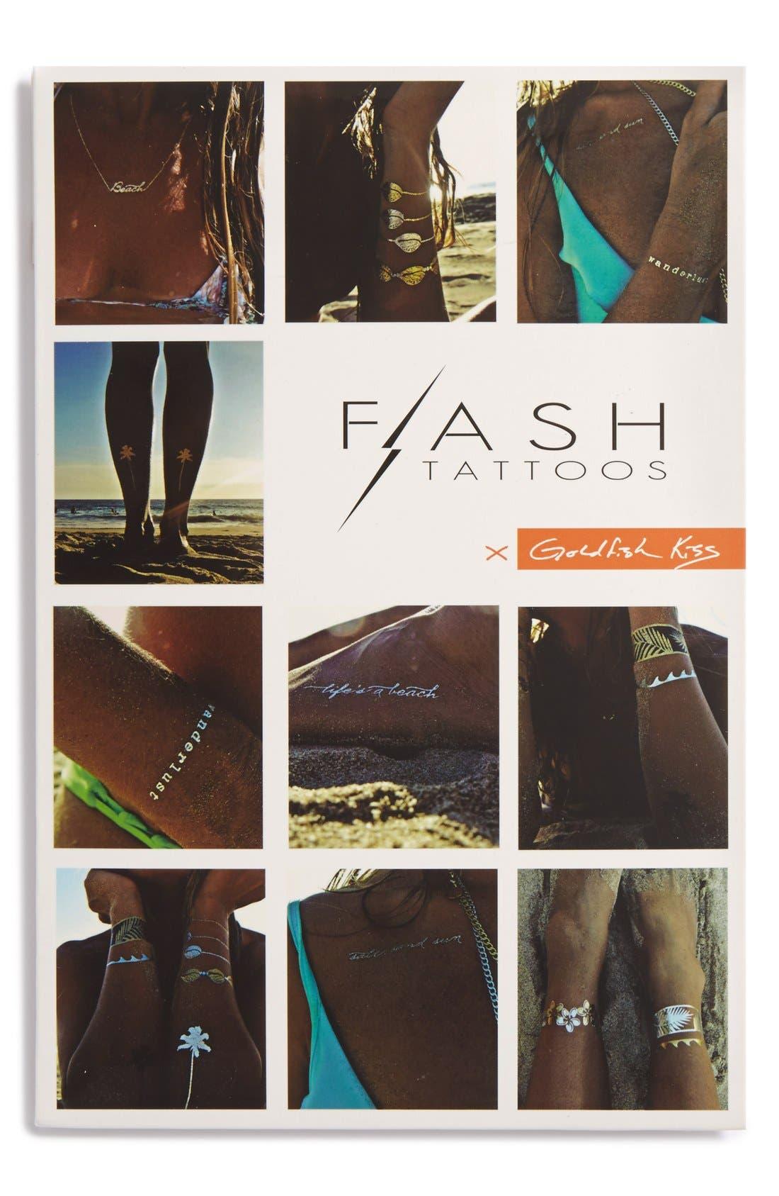 Main Image - Flash Tattoos 'Goldfish Kiss' Temporary Tattoos (Juniors)